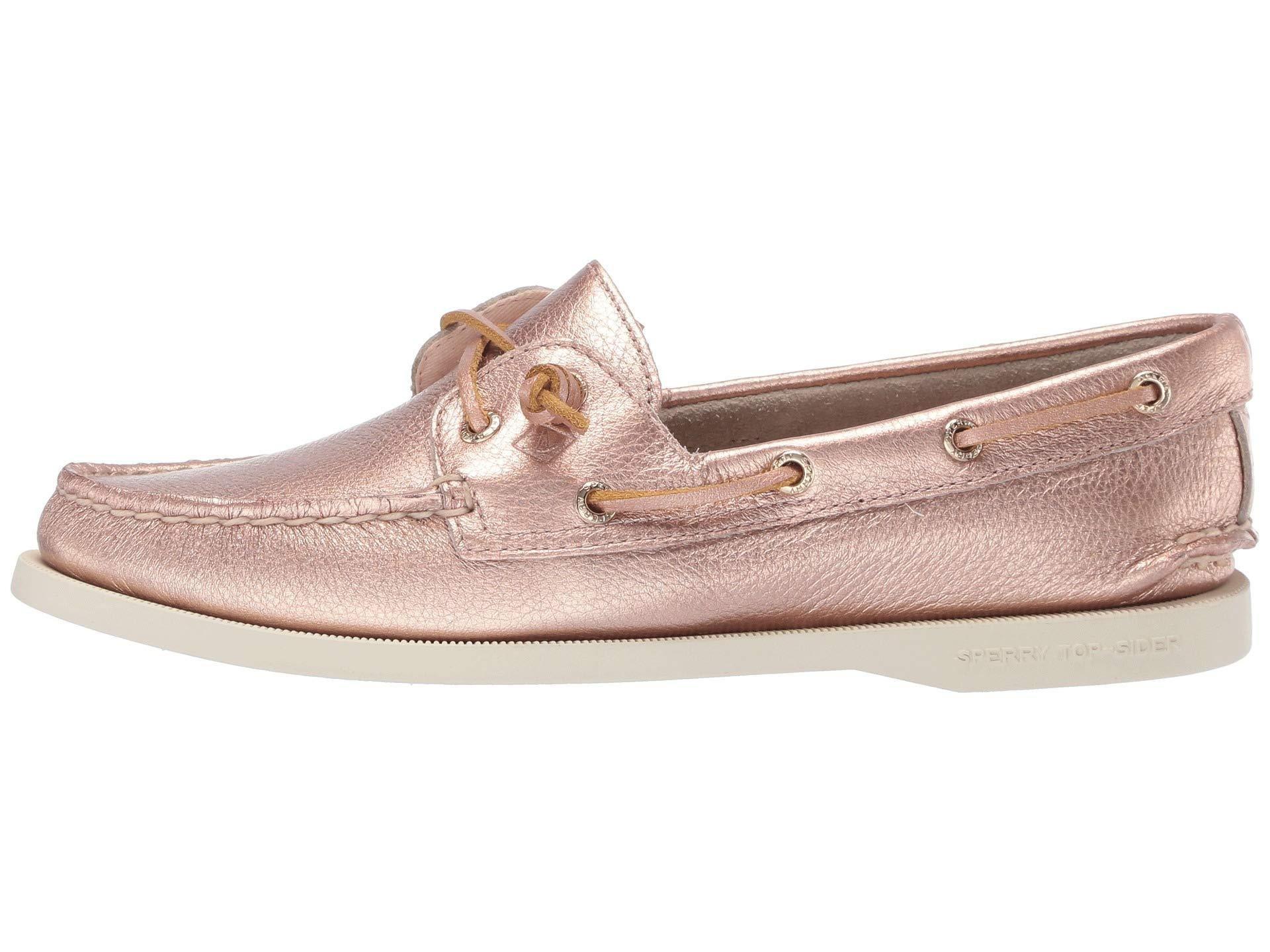 62d6c83c942d Sperry Top-Sider Authentic Original Vida Metallic (rose Gold) Women s Shoes  - Lyst
