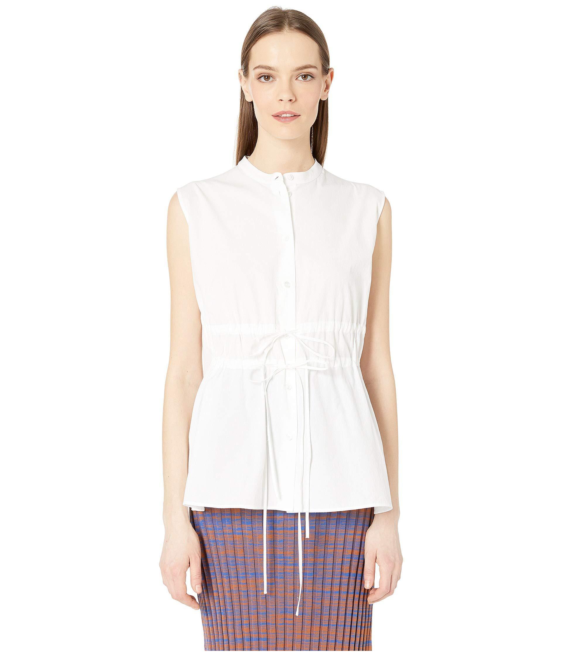 38220f5d Lyst - Jil Sander Navy Woven Shirt (white) Women's Clothing in White