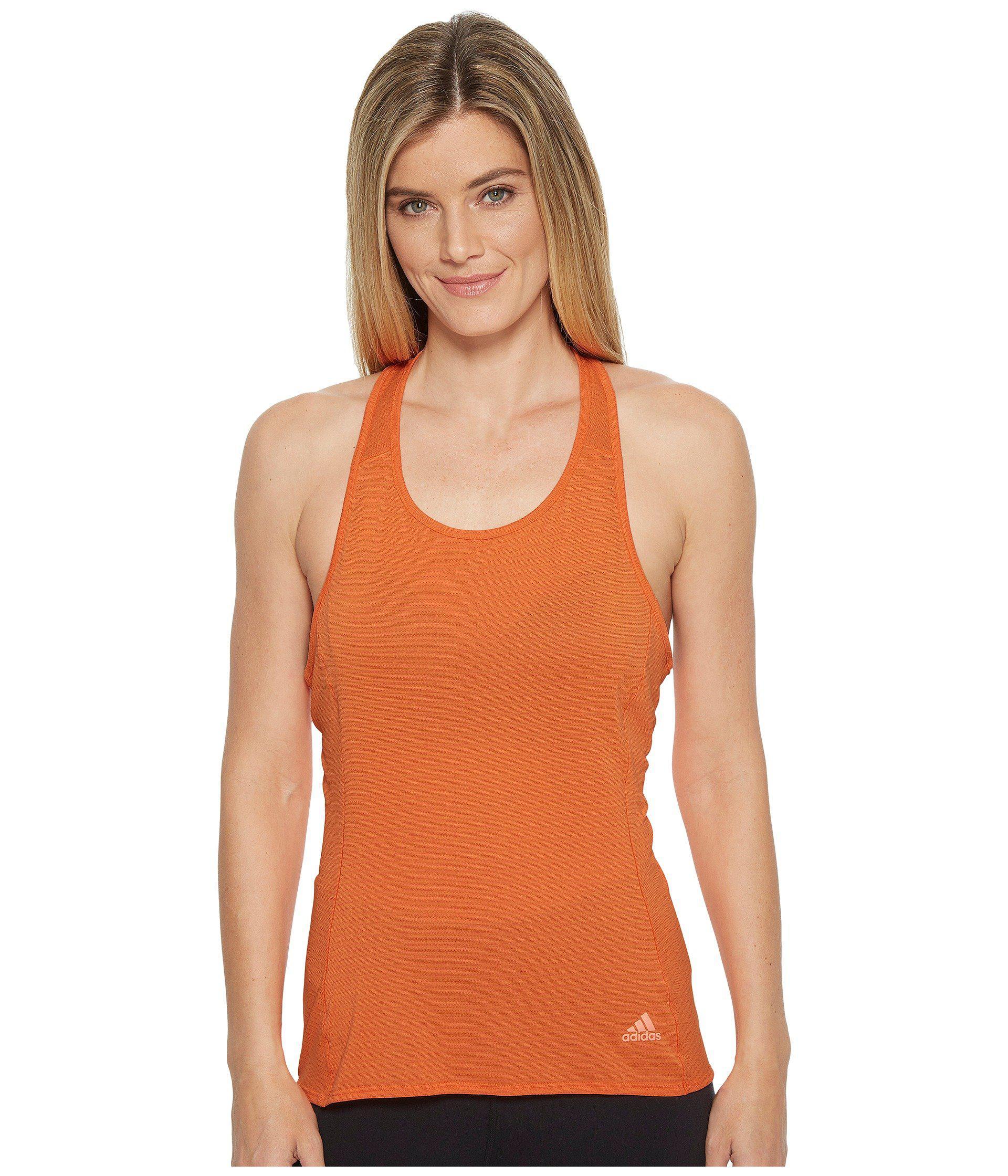 adidas. Women's Orange Supernova Tank Top
