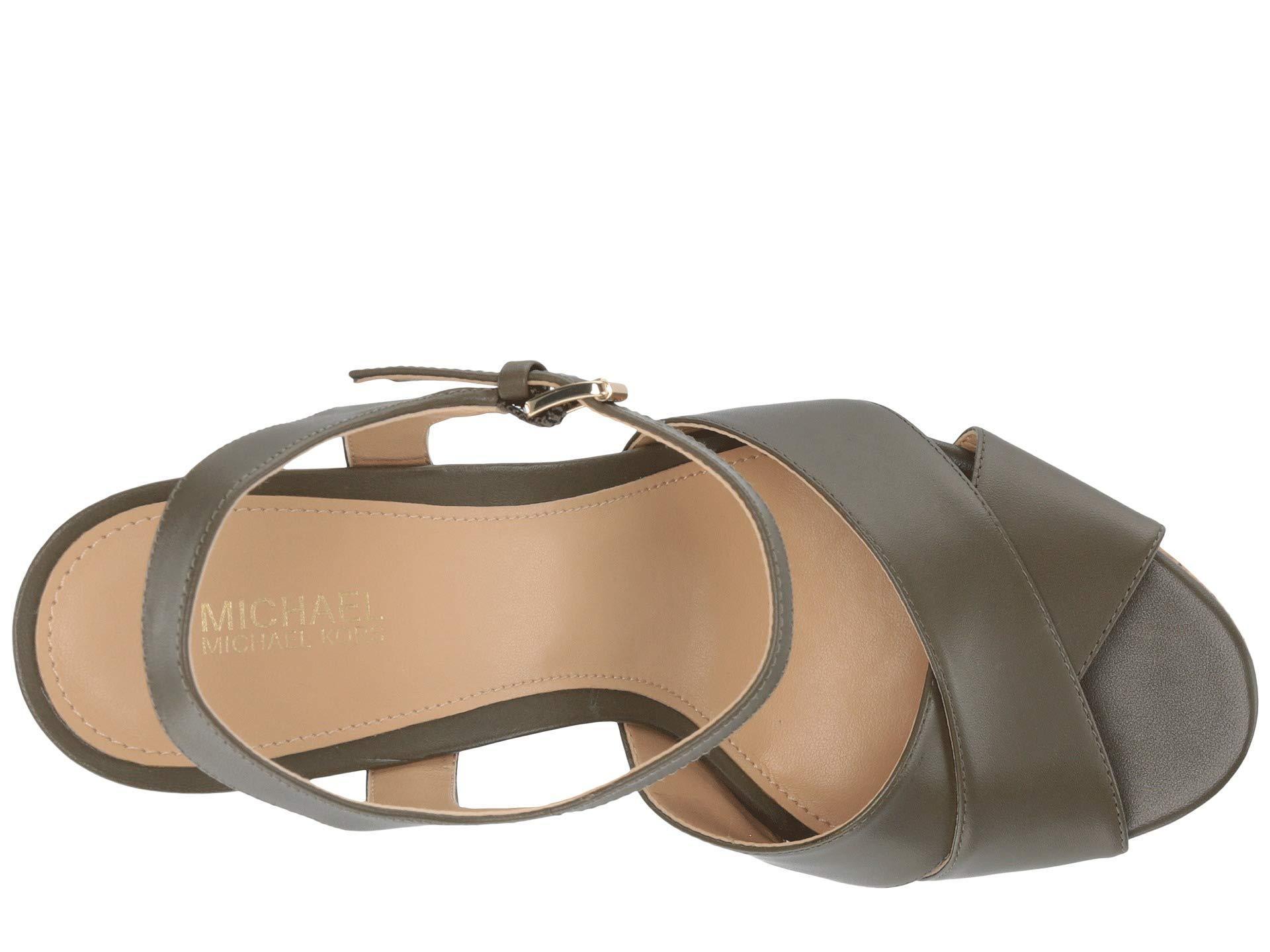 ffad35b02e MICHAEL Michael Kors - Multicolor Alexia Platform (olive Vachetta/cork)  Women's Shoes -. View fullscreen