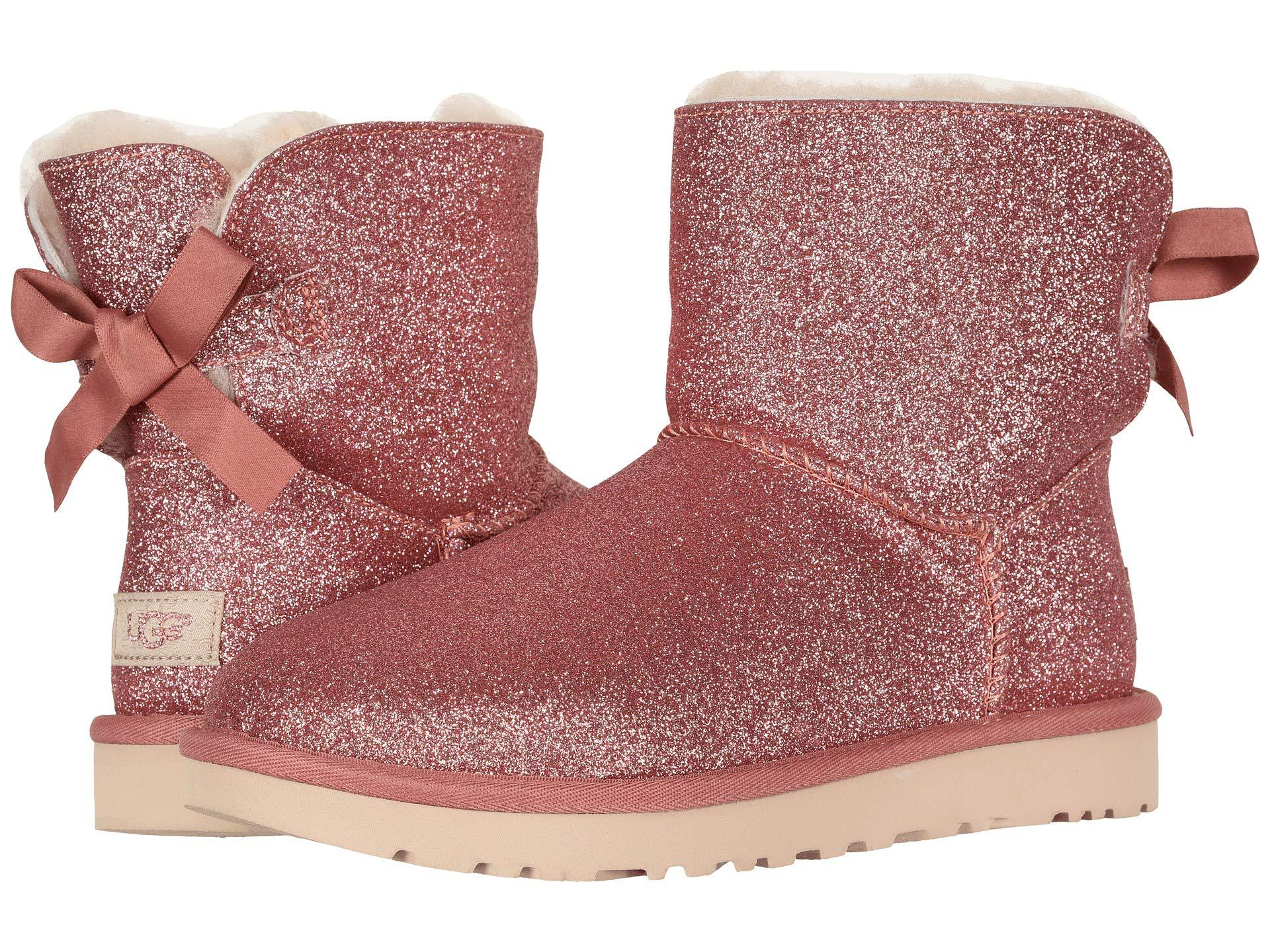 ffa4e32112 UGG Mini Bailey Bow Sparkle Boot (silver) Women's Pull-on Boots in ...