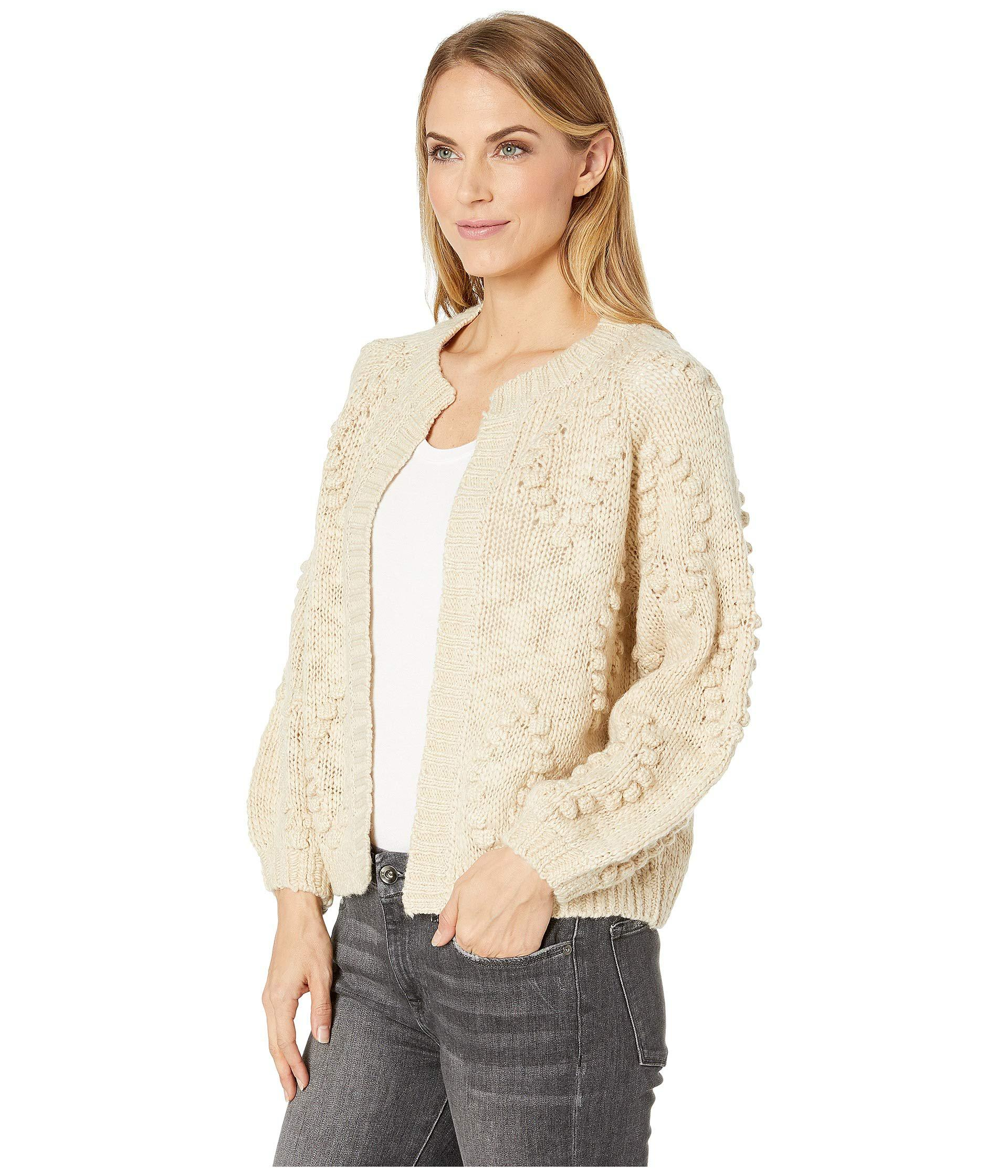cd742691b9 Lyst - Lucky Brand Bobble Diamond Cardigan Sweater (cream) Women s Sweater  in Natural