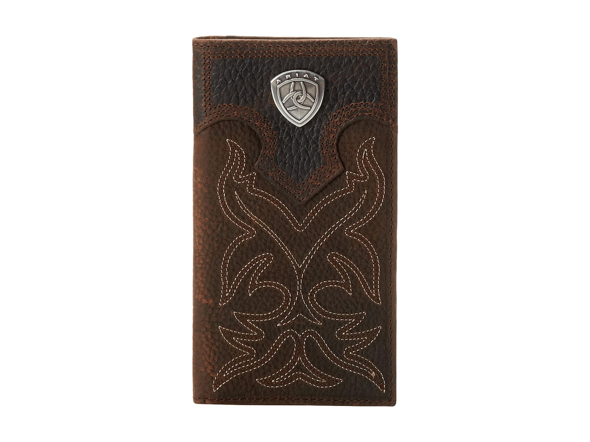 Ariat Shield Boot Stitch Rodeo Wallet In Brown For Men Lyst