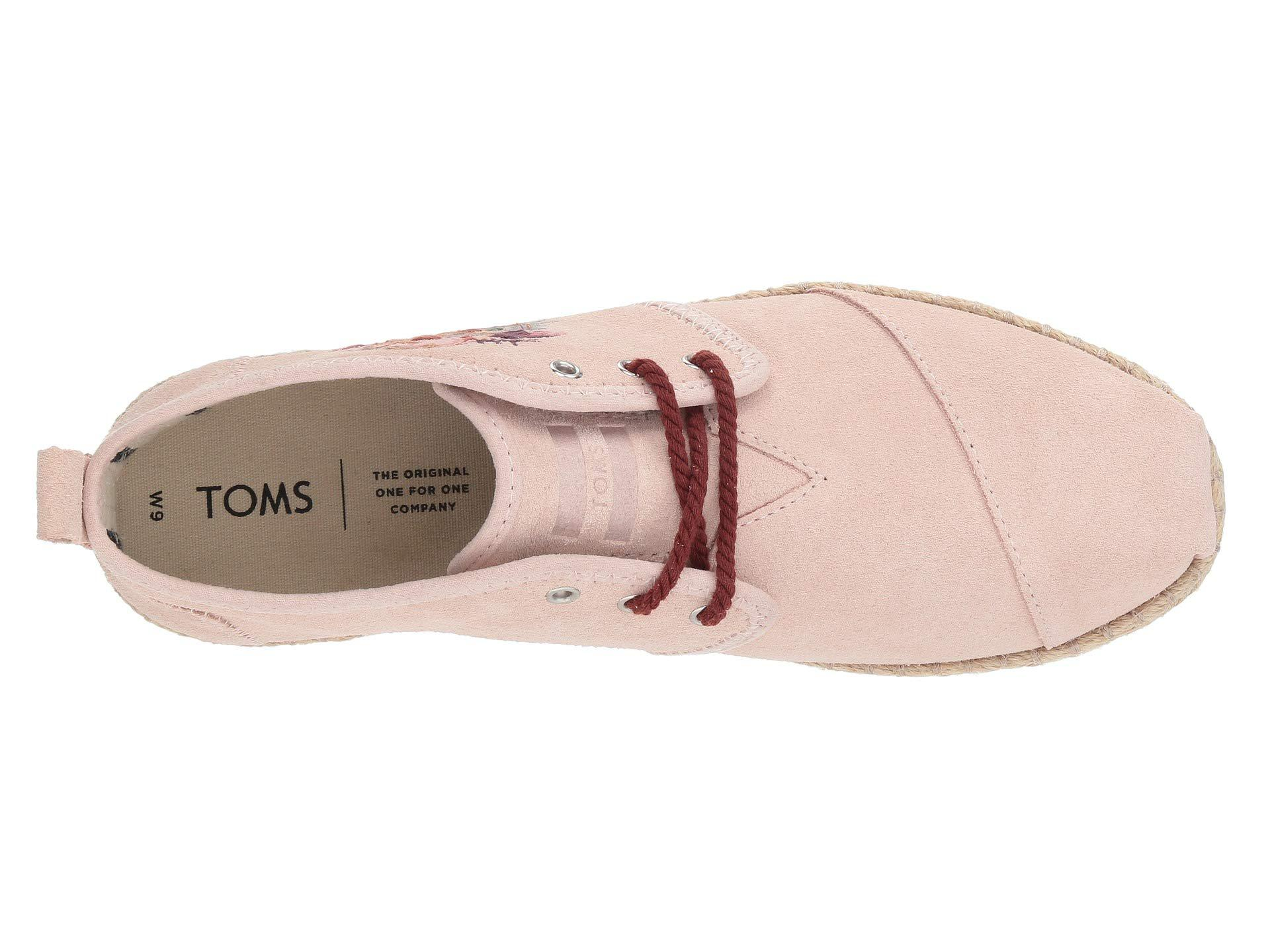 418b1b67204 Lyst - TOMS Bota (red Plaid Felt) Women s Lace Up Casual Shoes in Pink