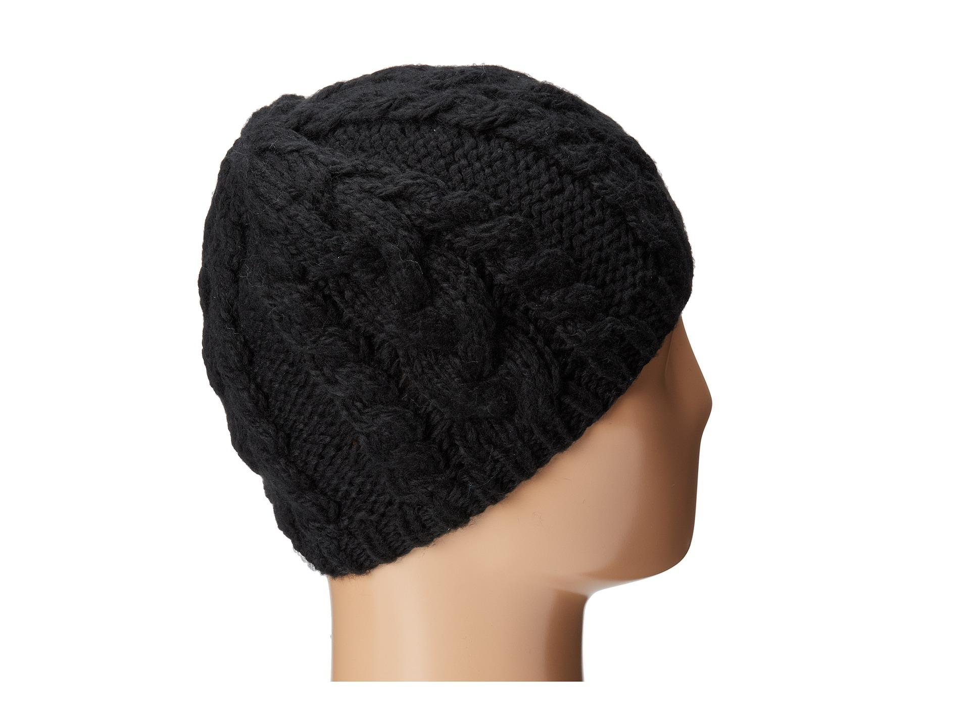 San diego hat company Cable Stitch Knit Beanie in Black Lyst