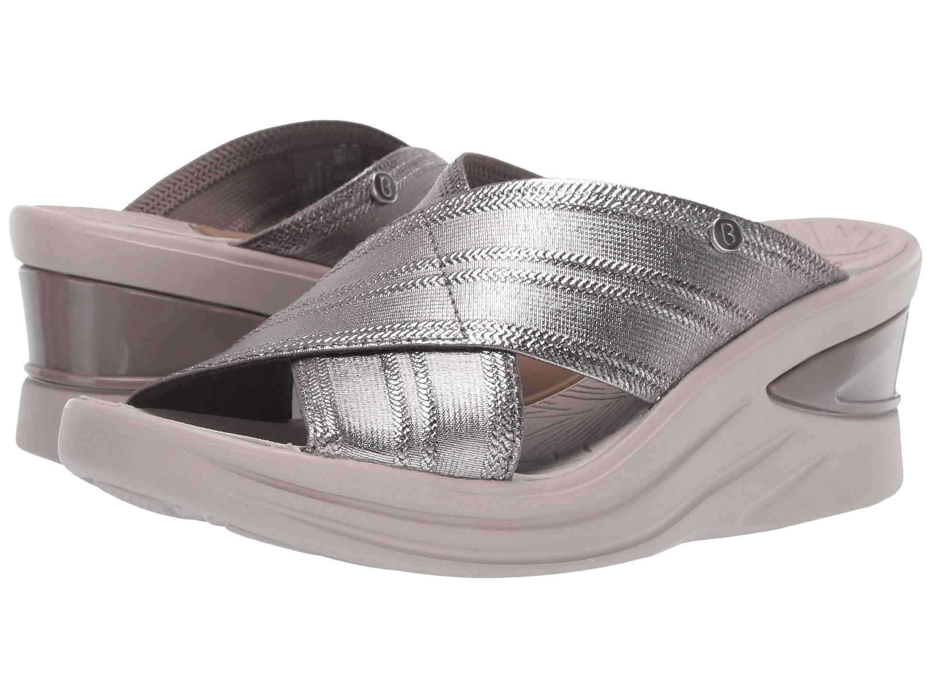 36b345d4a242 Lyst - Bzees Vista (charcoal Metallic Fabric) Women s Sandals in ...