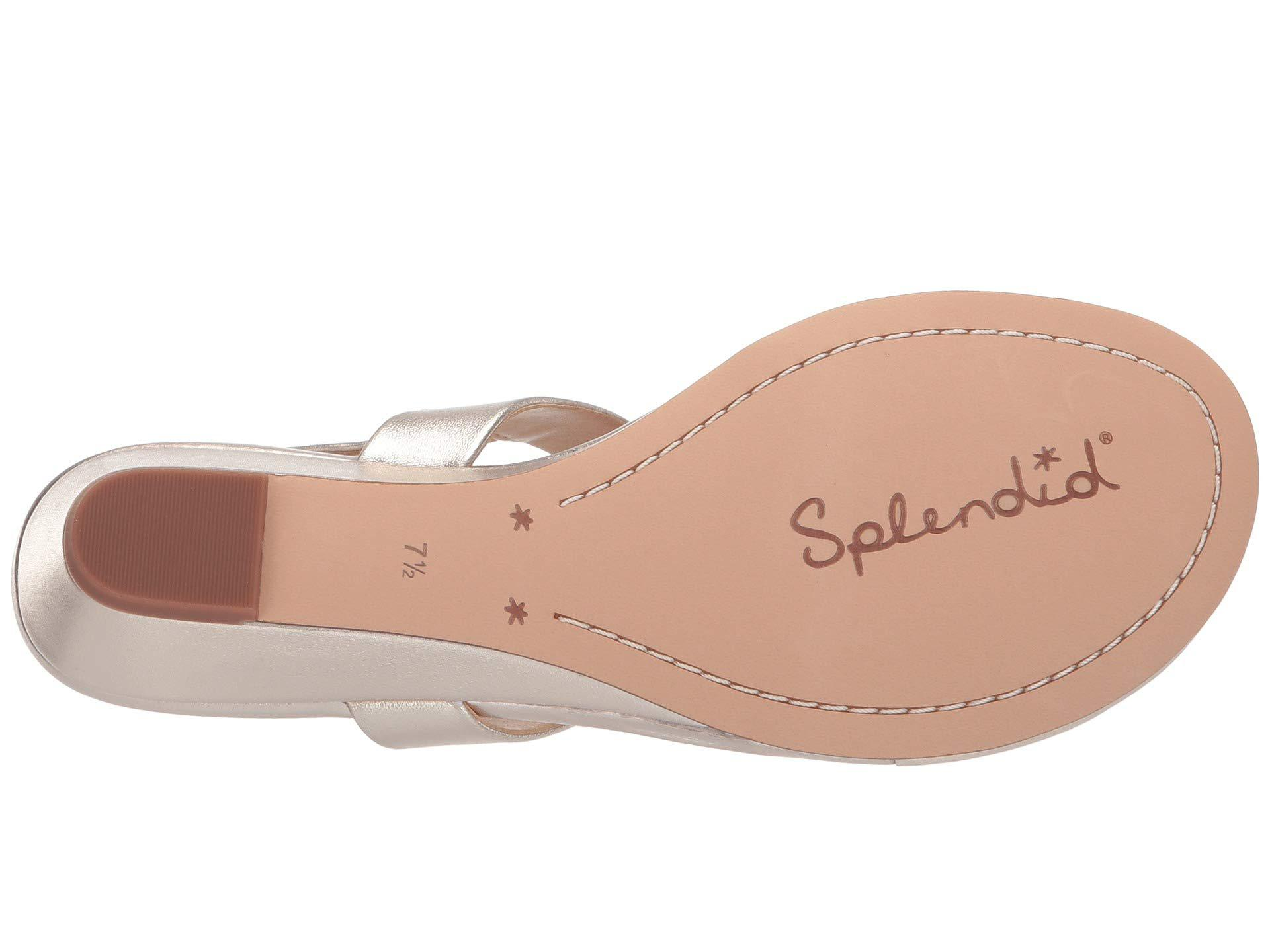 90a1c4e90ac Lyst - Splendid Swain (gold Metallic) Women s Wedge Shoes in Metallic