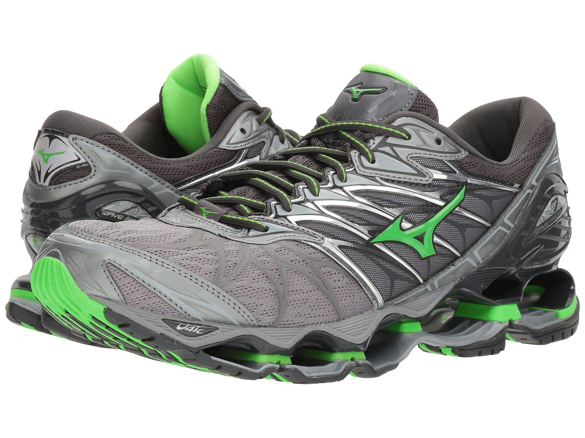 a441d1f0eb4b ... authentic mizuno. green wave prophecy 7 black silver mens running shoes  55811 b19ef