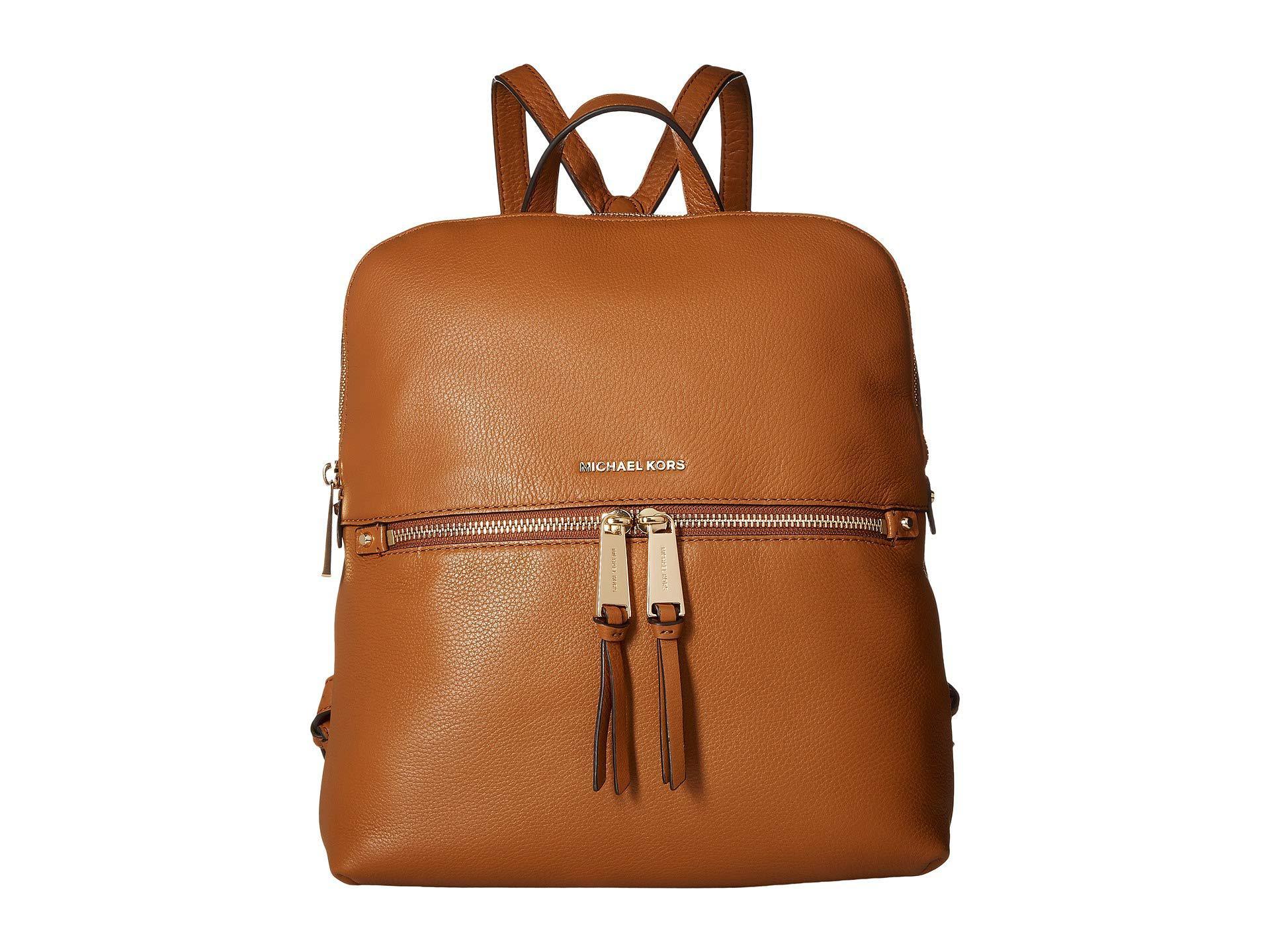 20103dfdb35fef MICHAEL Michael Kors - Brown Rhea Zip Medium Slim Backpack (black) Backpack  Bags -. View fullscreen