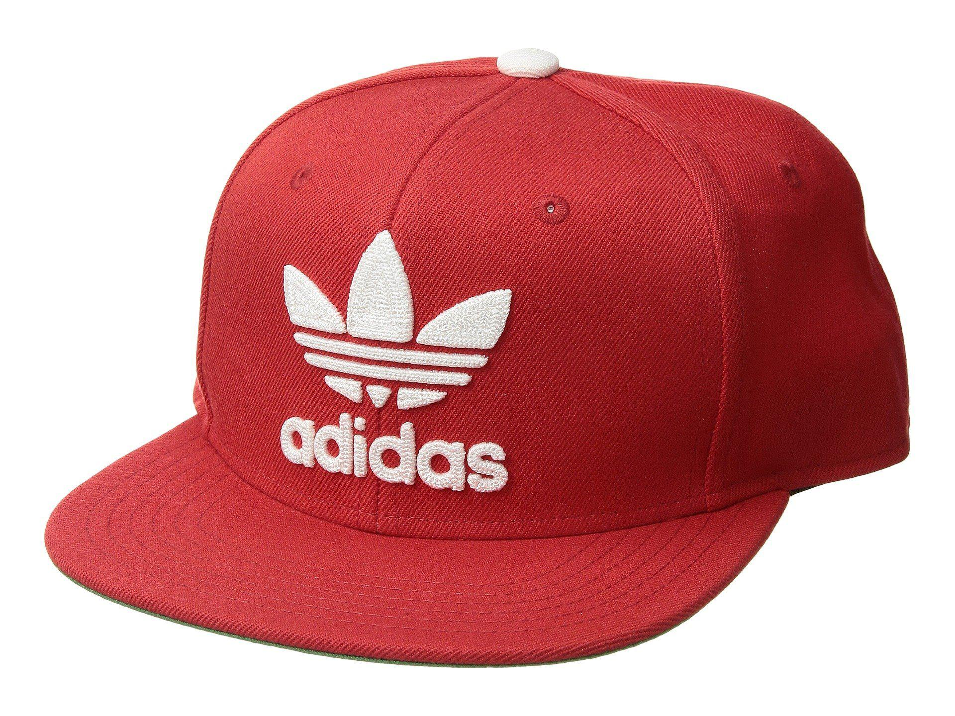 ... uk adidas originals. mens red originals trefoil chain snapback cap  f5a56 a5852 186bffa0fe3d