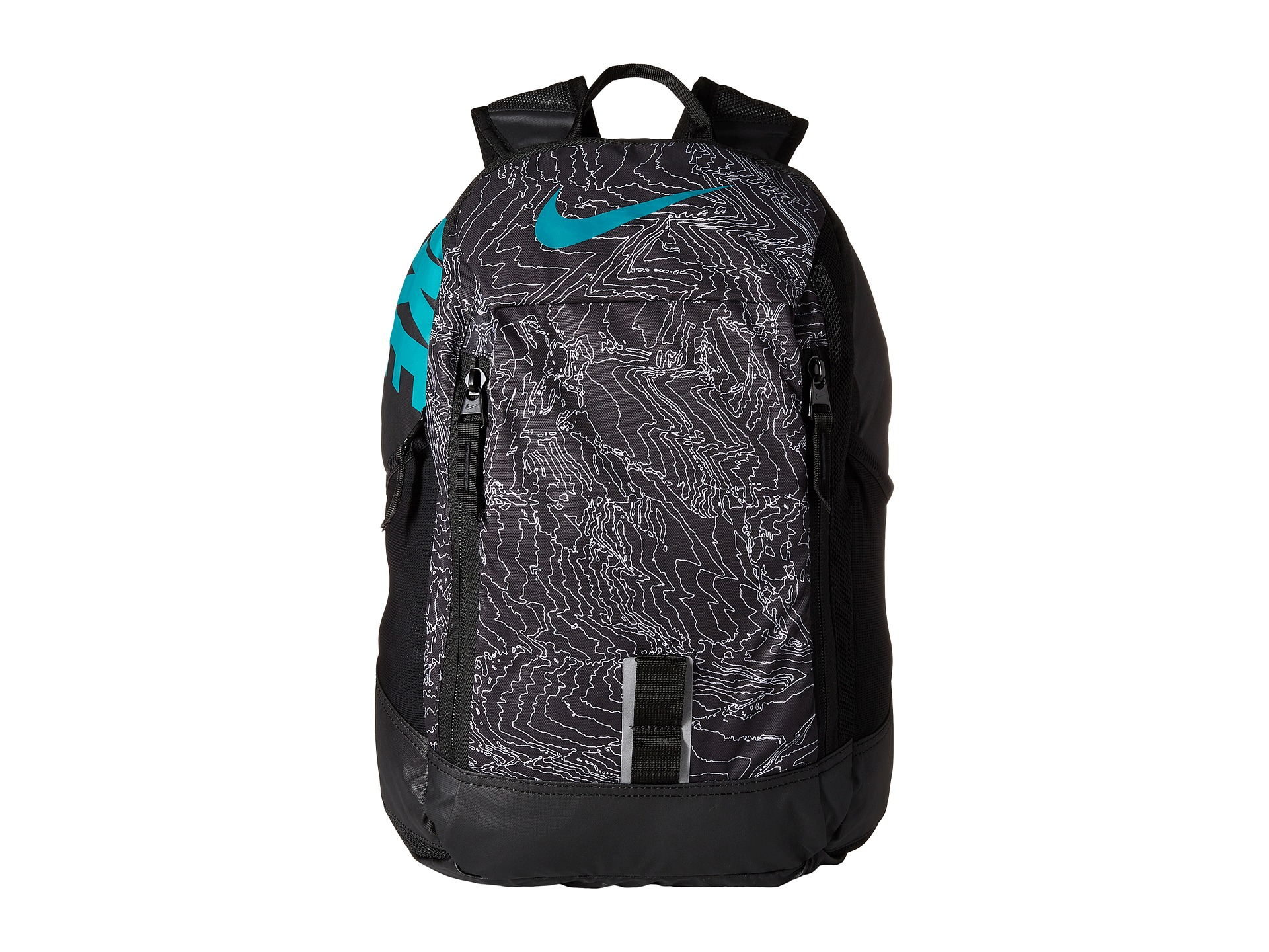 598090d03c Lyst - Nike Young Athletes Alpha Adpt Rise Print Backpack in Black ...