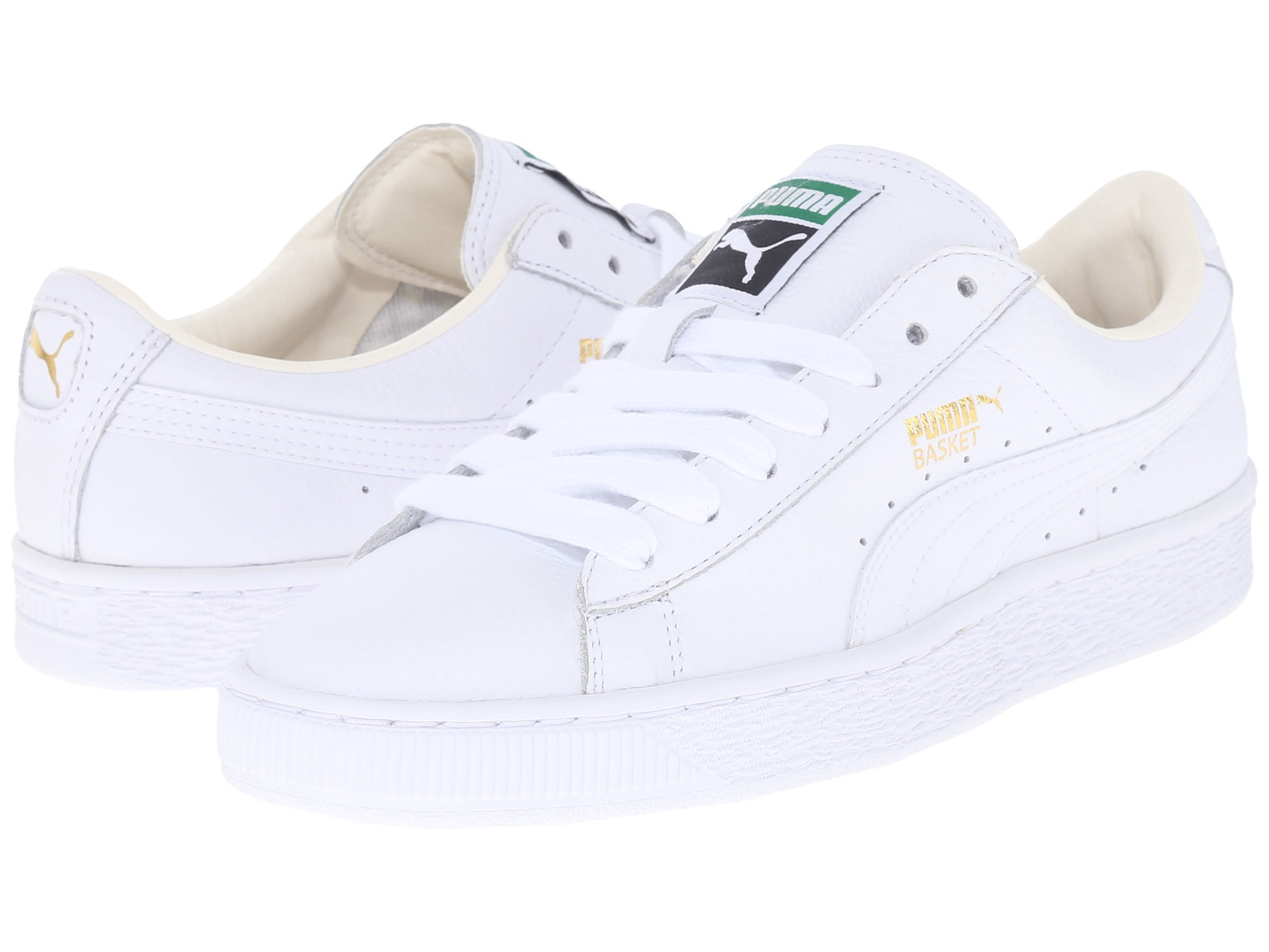 puma basket classic lfs in white lyst. Black Bedroom Furniture Sets. Home Design Ideas