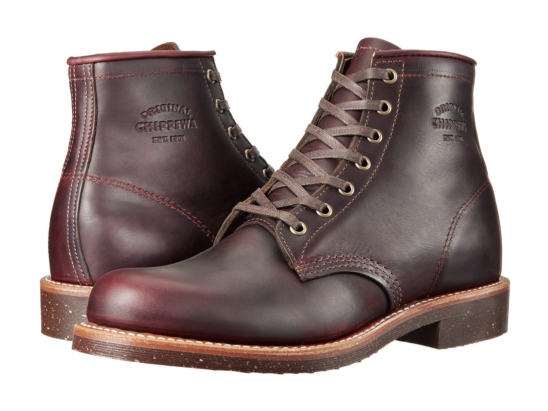 lyst chippewa service boot cordovan men s boots in black for men