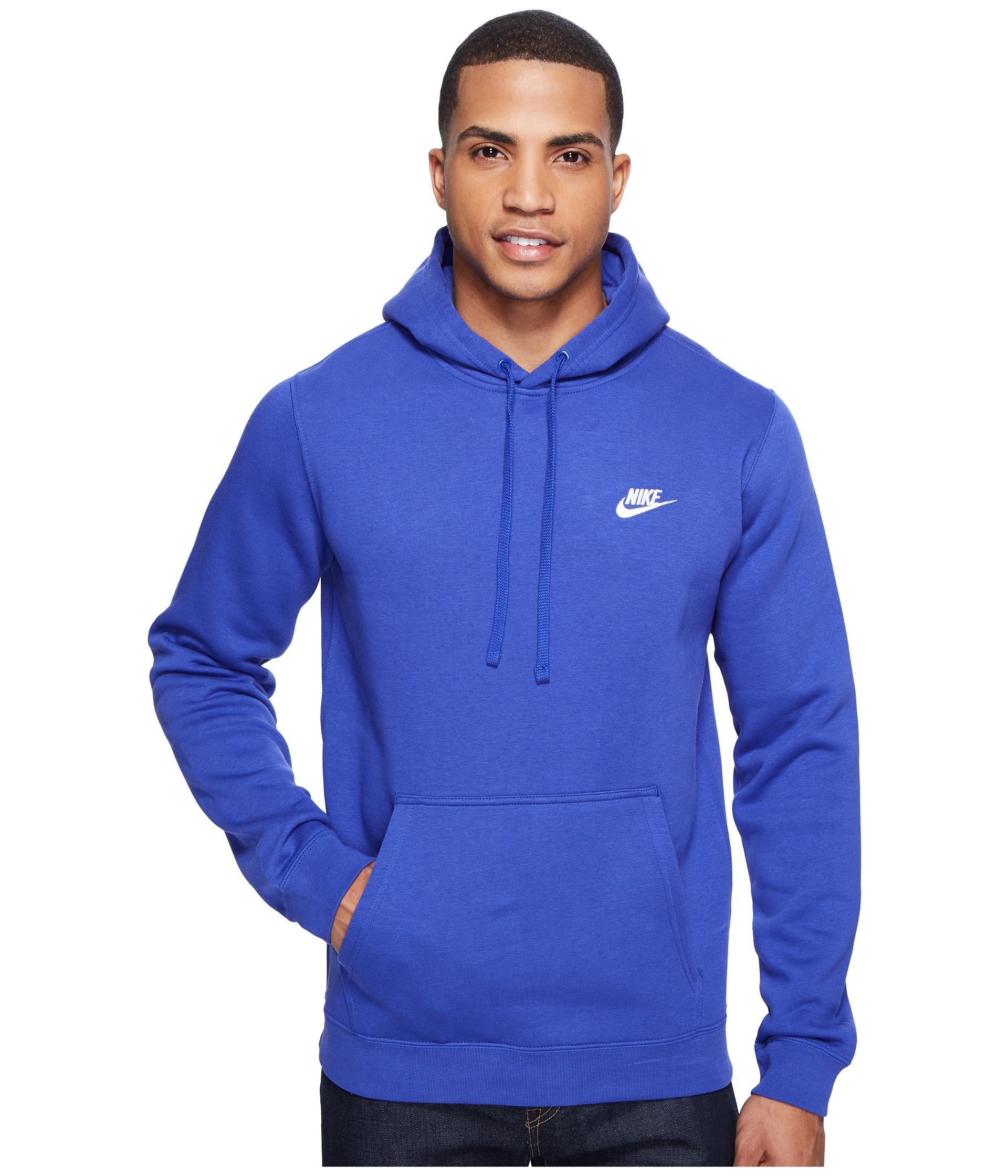76e6705a97a4 Lyst - Nike Club Fleece Pullover Hoodie in Blue for Men