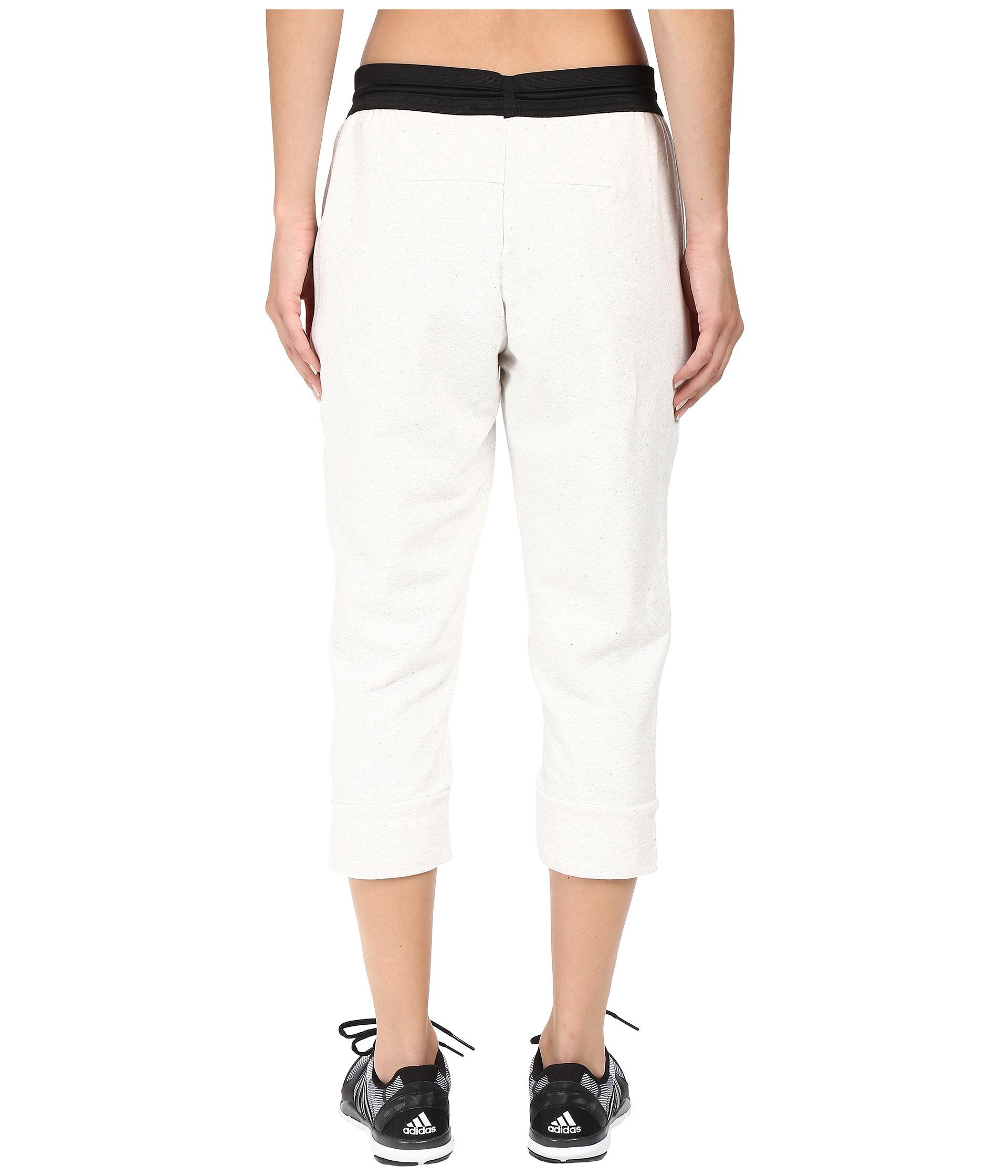 19b7e78b1d9d Lyst - Adidas Originals Cotton Fleece 3 4 Pants in White