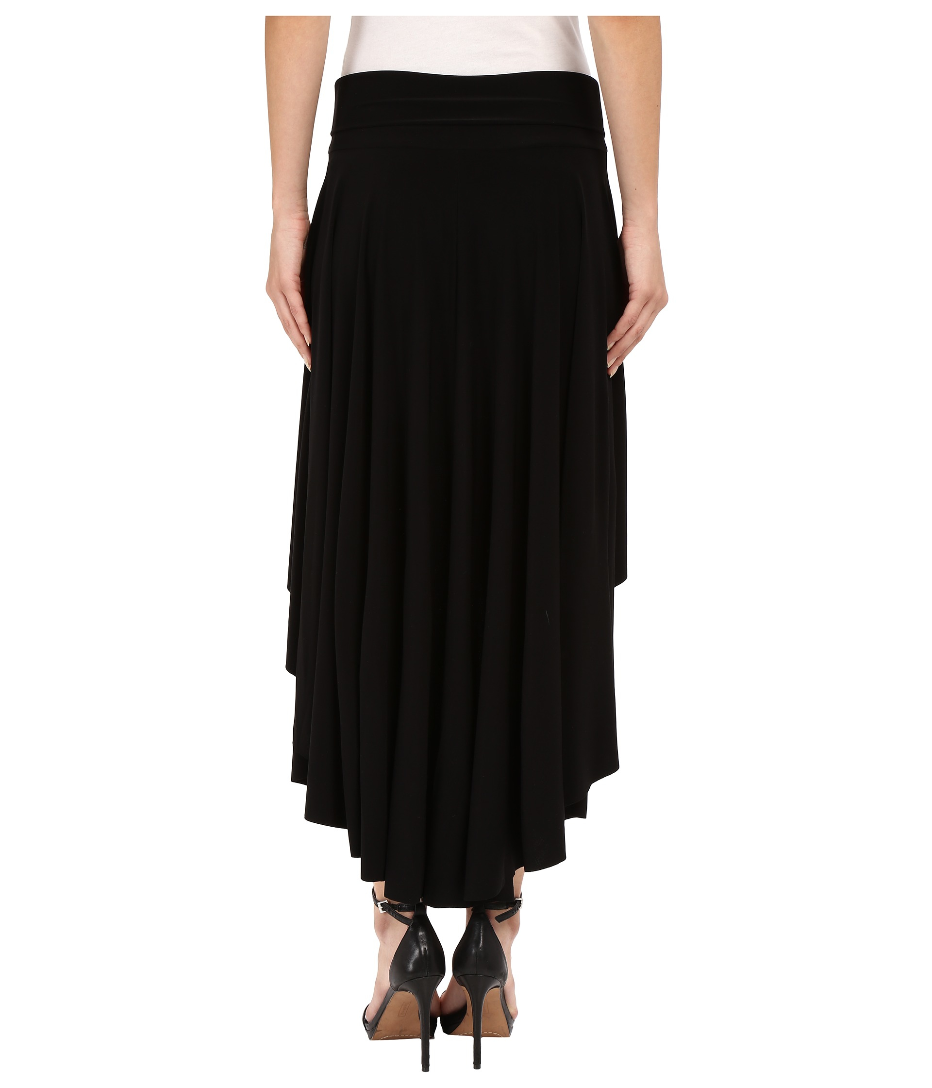 kamalikulture high low skirt in black lyst