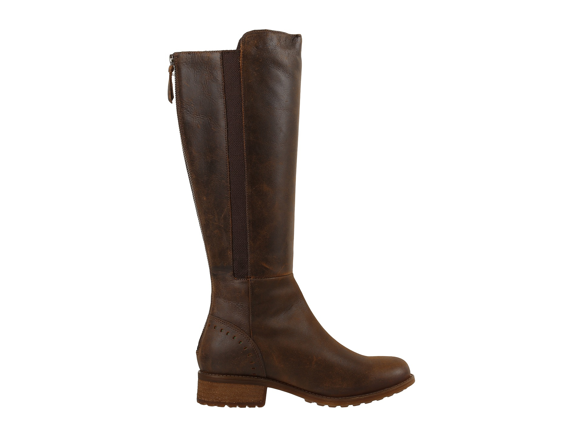 ugg vinson leather knee high boots in brown lyst