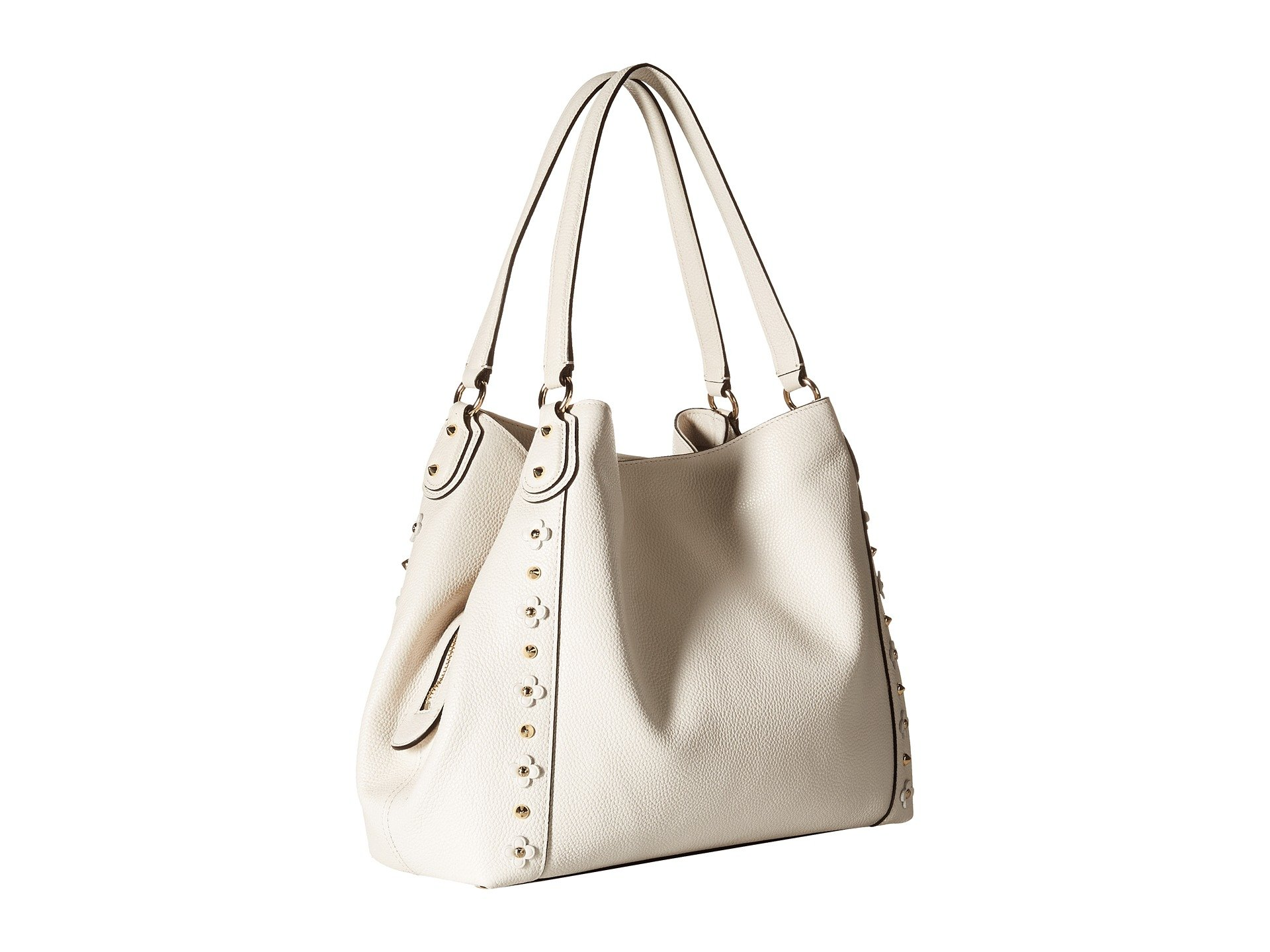 bed36a9b42d2 ... inexpensive lyst coach floral rivets detail edie 31 shoulder in white  d4a8d d692e ...
