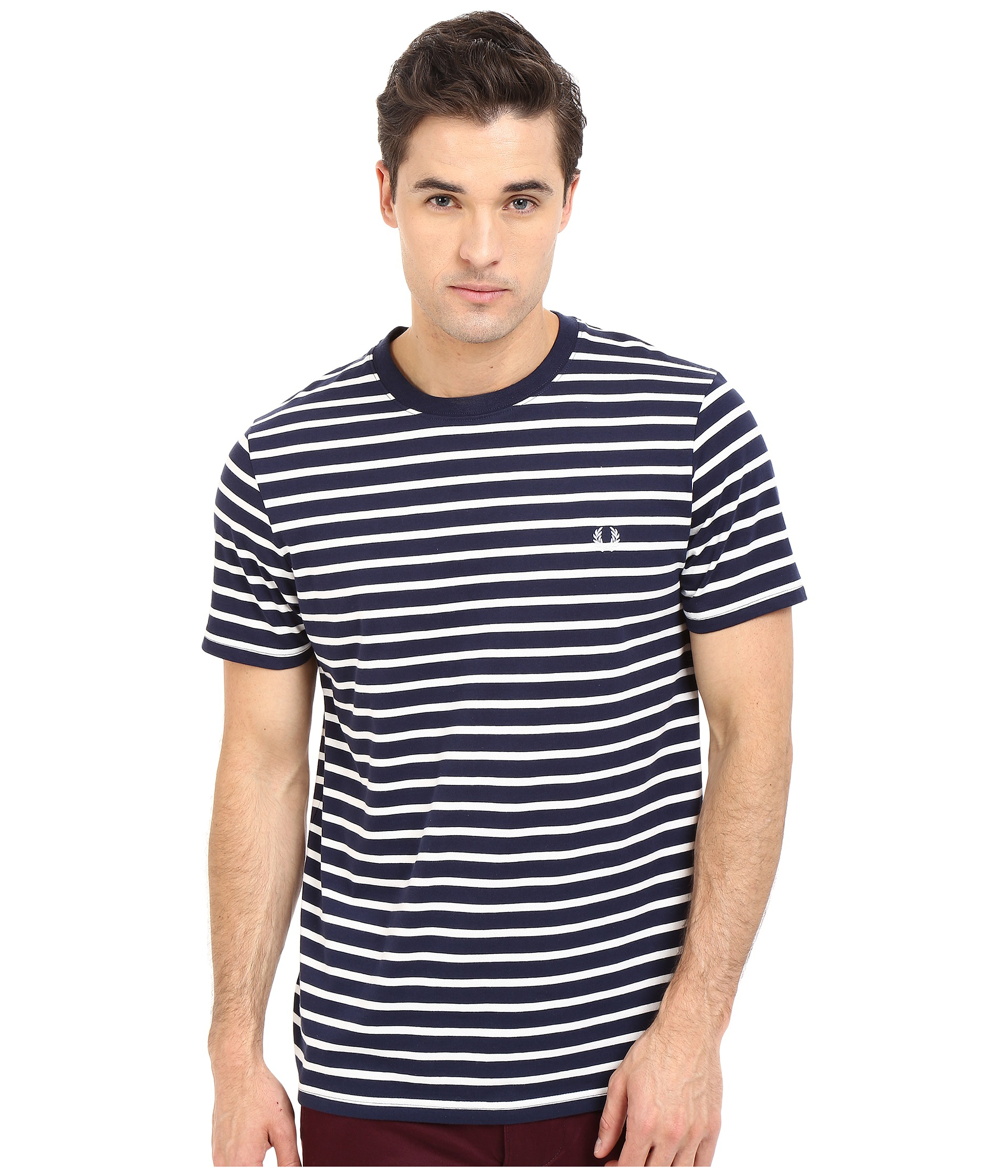 fred perry breton stripe t shirt in white for men lyst. Black Bedroom Furniture Sets. Home Design Ideas