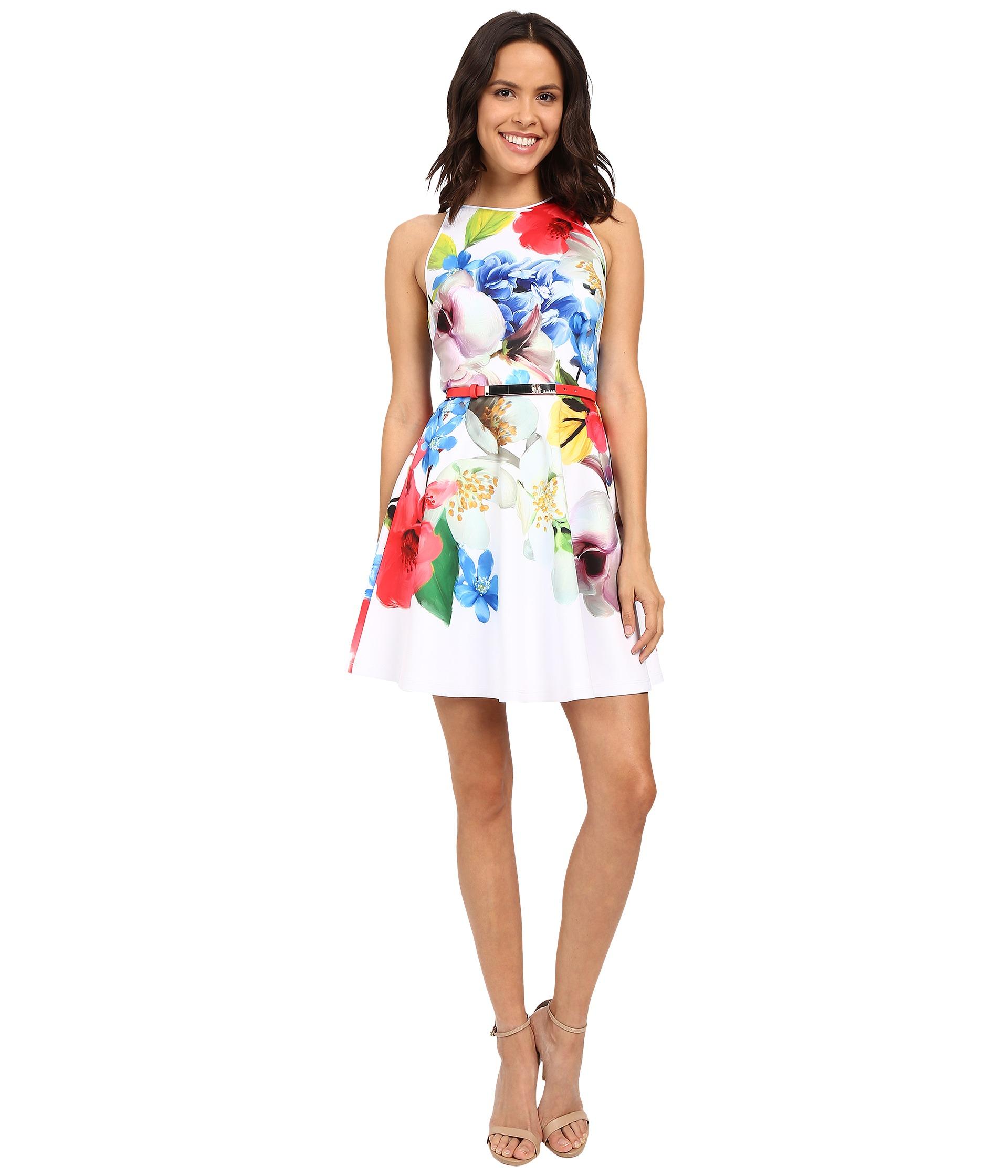 Ted Baker White Floral Dress