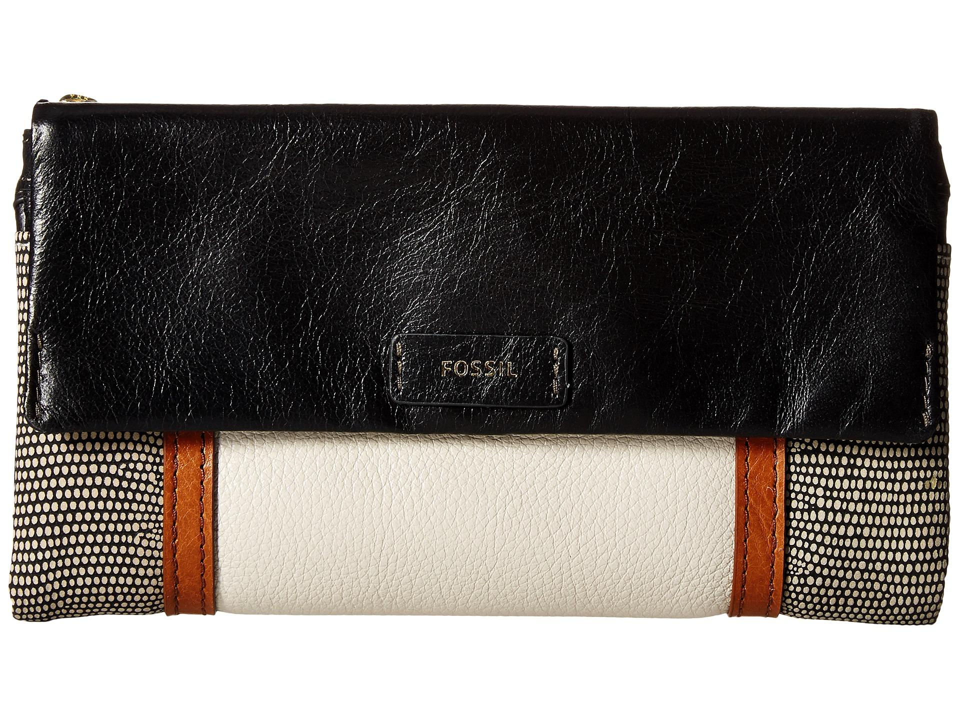 dd5b9da91d28 Lyst - Fossil Ellis Clutch in Black