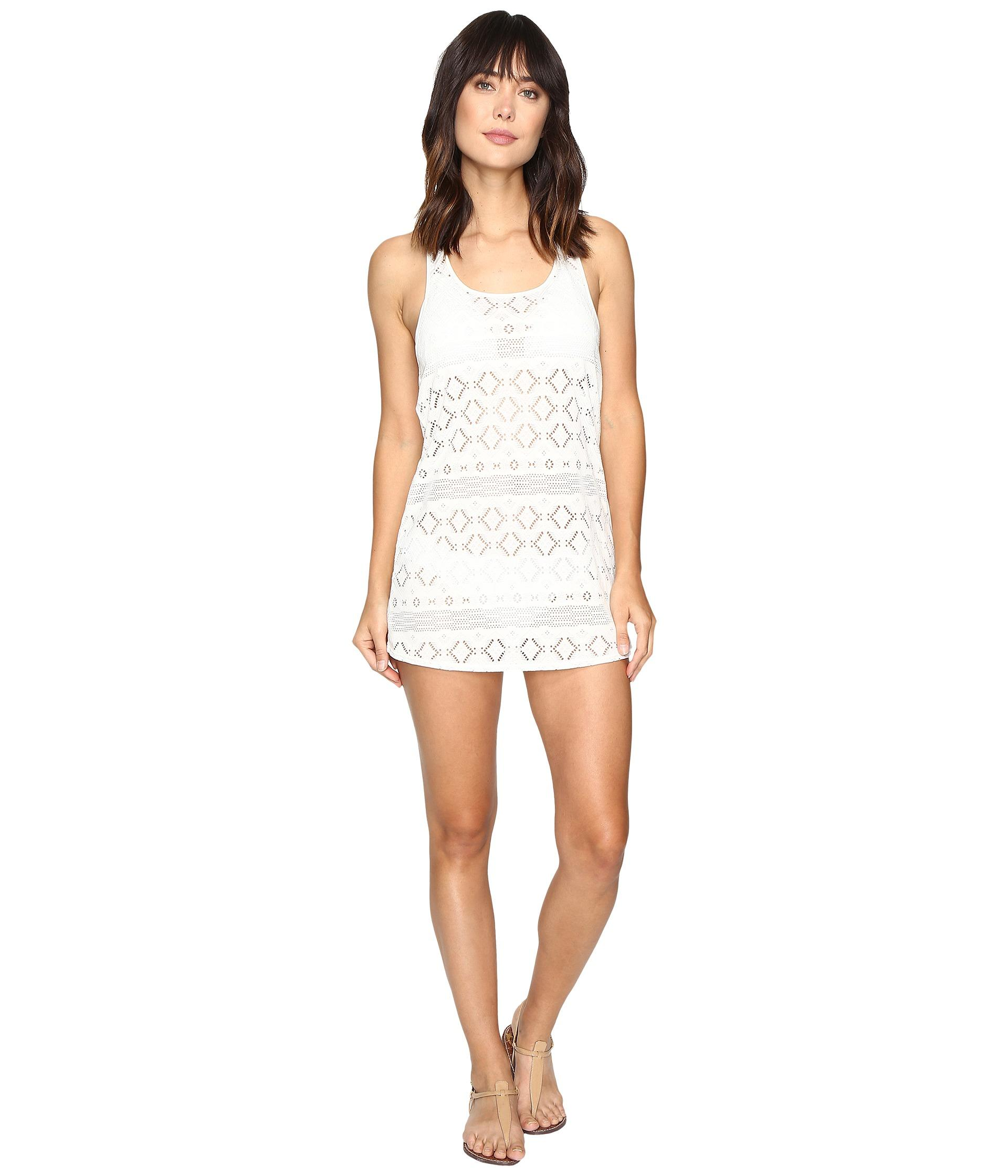 Roxy Crochet Sporty Cover-up in Black Lyst