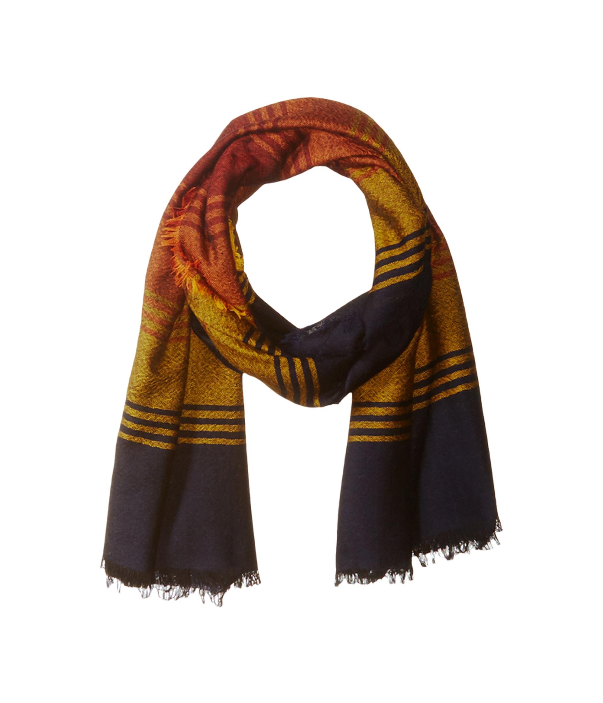 abbdf8a7c Pendleton Stripe Featherweight Wool Scarf in Brown - Lyst