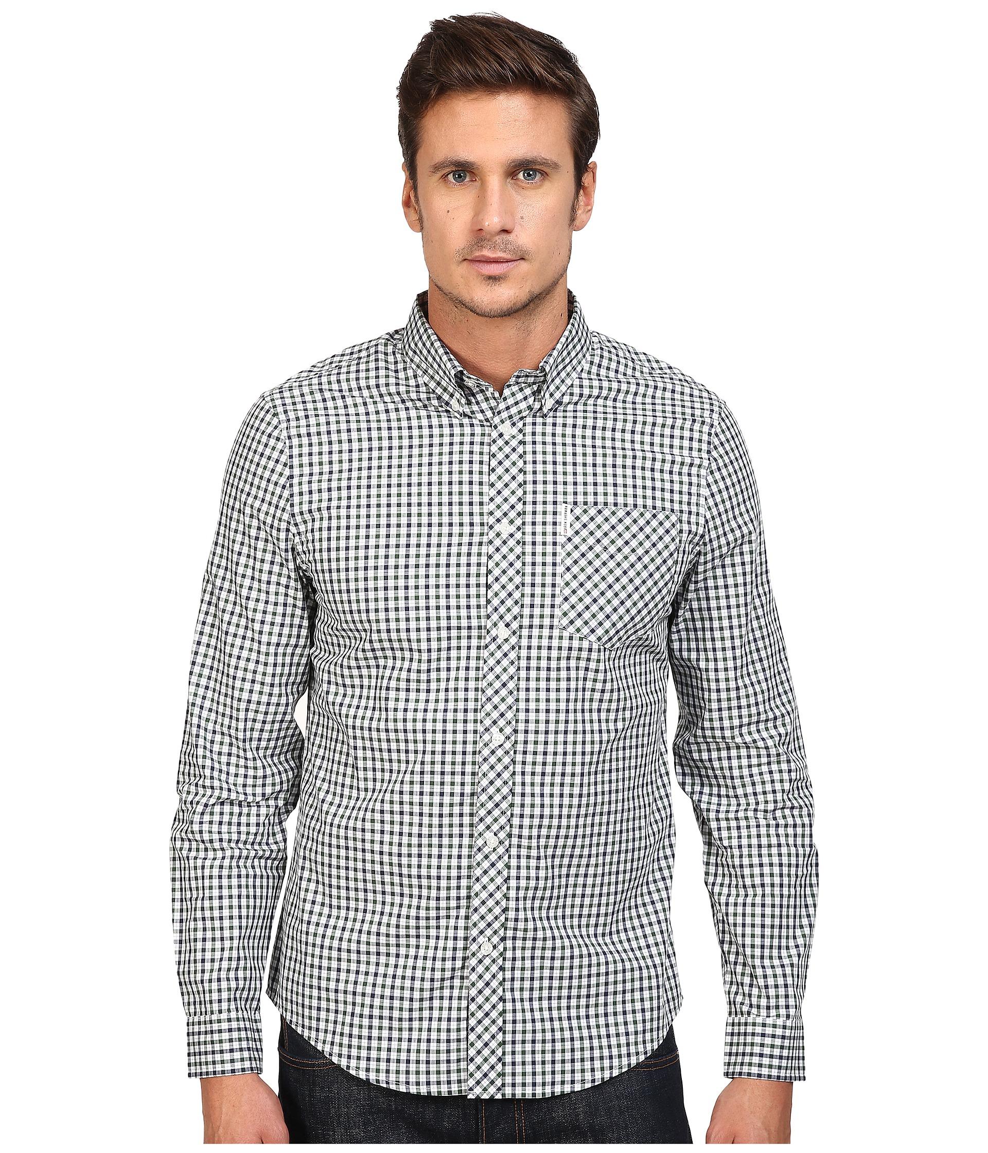 Ben Sherman Long Sleeve House Check Woven Shirt In