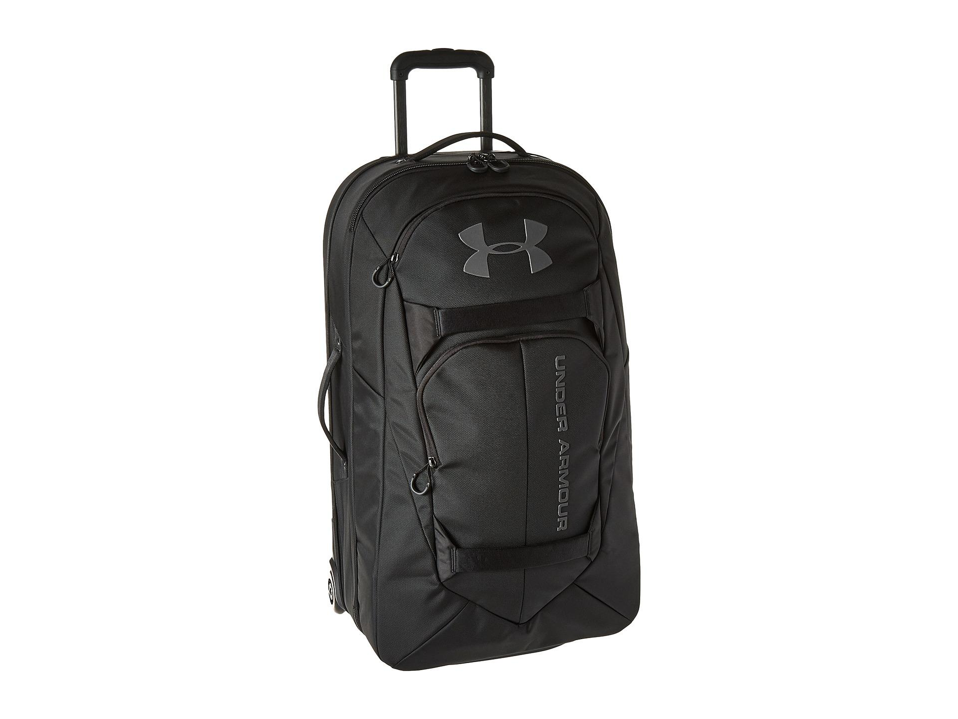 Lyst - Under Armour Ua At Checked Rolling Bag in Black for Men 38caf333cec0e