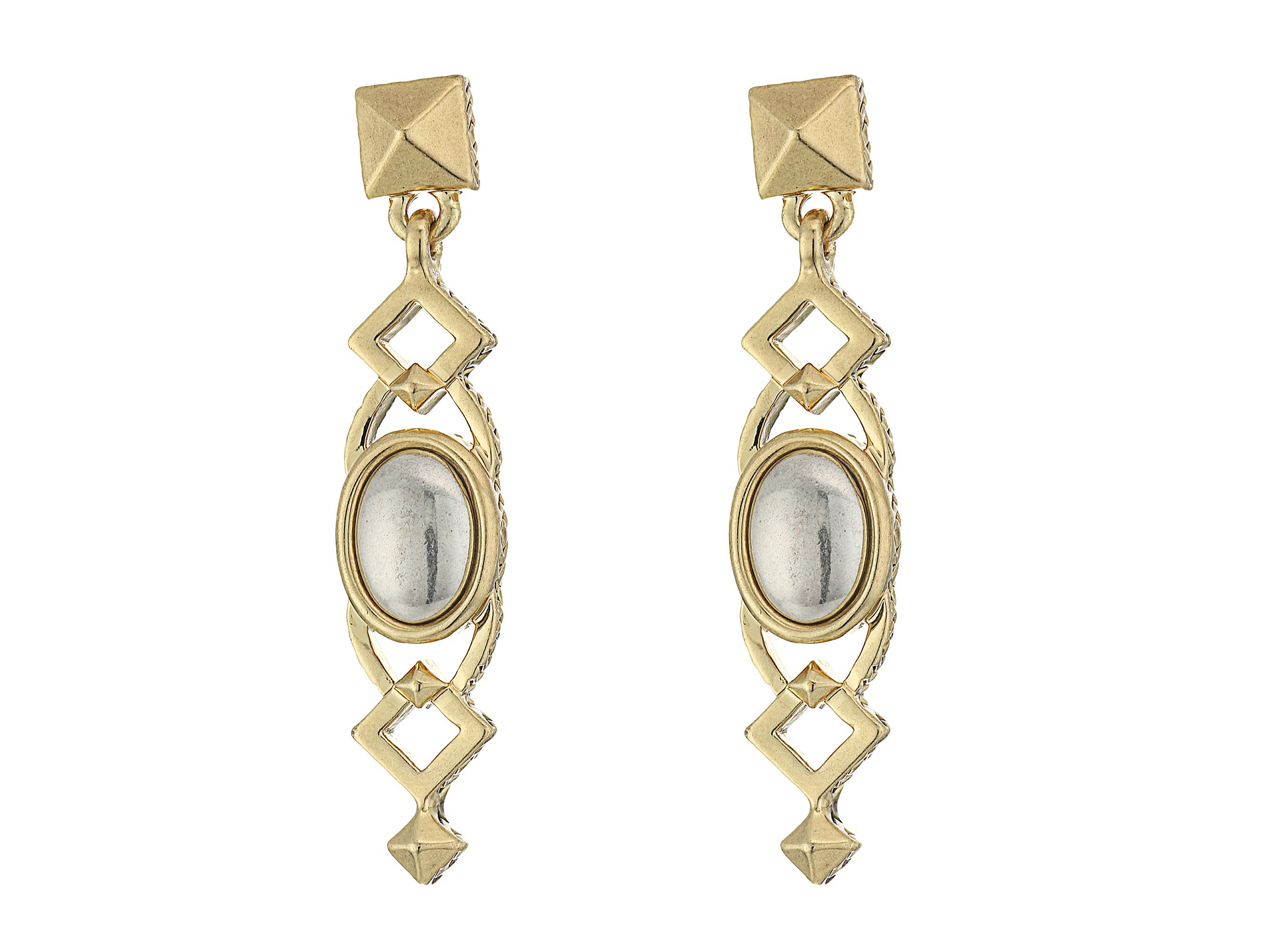House Of Harlow House of Harlow Lady Of Grace Drop Earring in Metallic Gold 054cNt3e