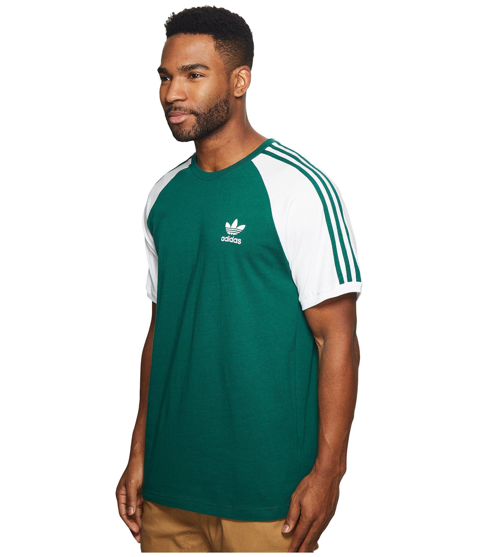 adidas originals california raglan t-shirt collegiate green