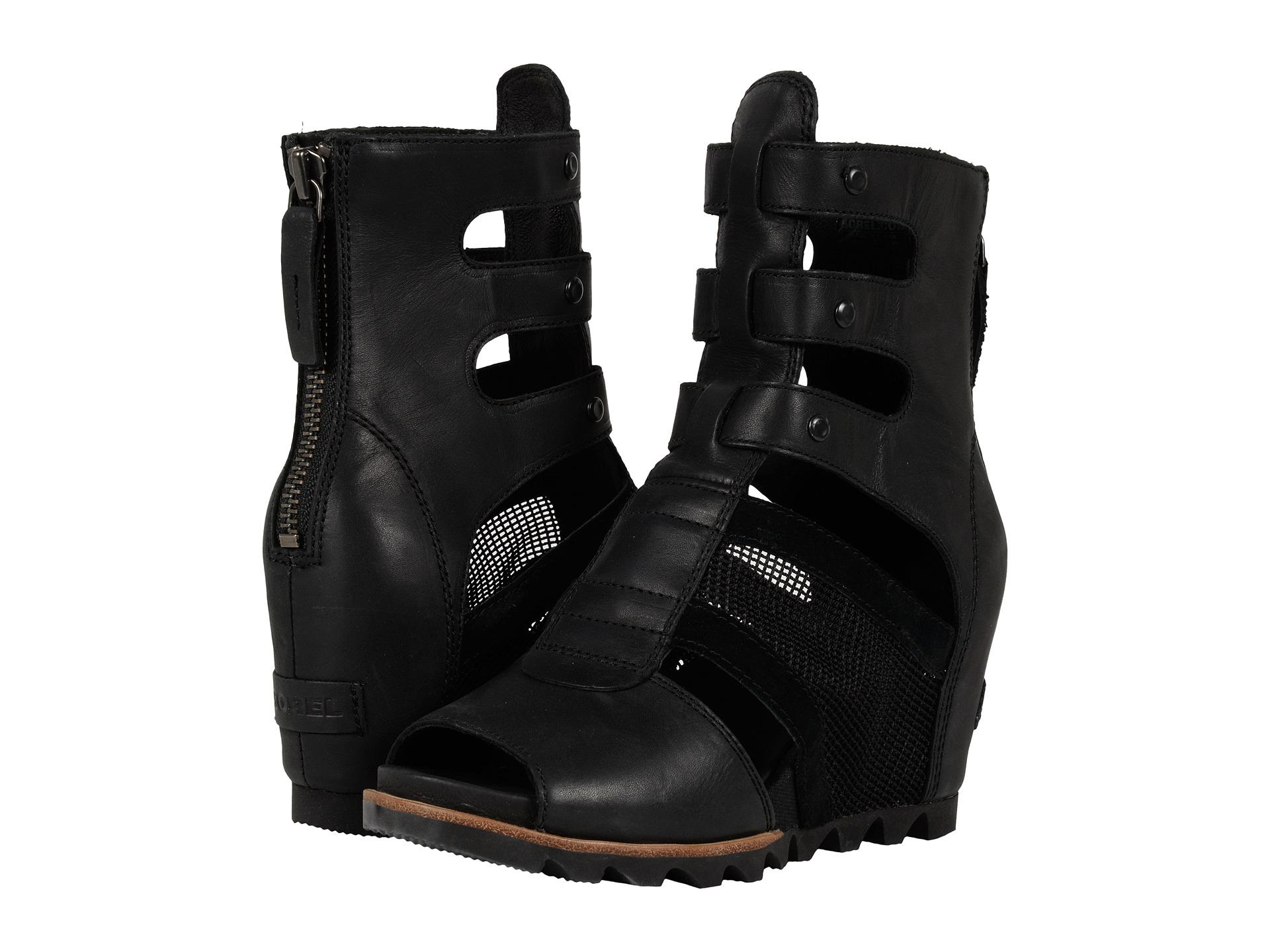 Lyst Sorel Joanie Gladiator Wedges In Black