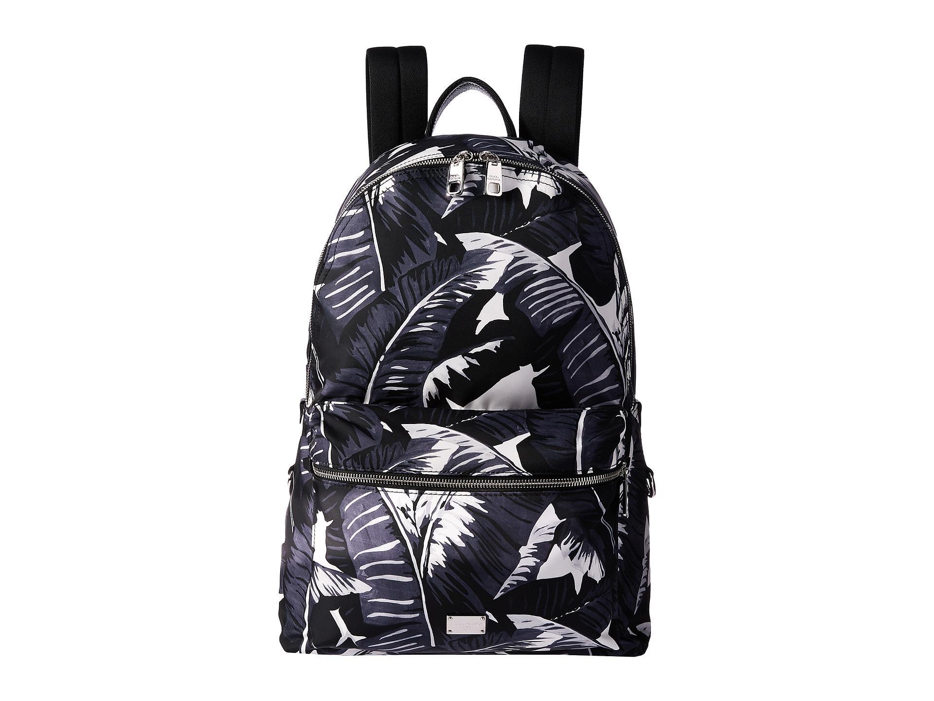 988d1243dd2 Lyst - Dolce   Gabbana Banana Leaf Printed Nylon Backpack in Black ...