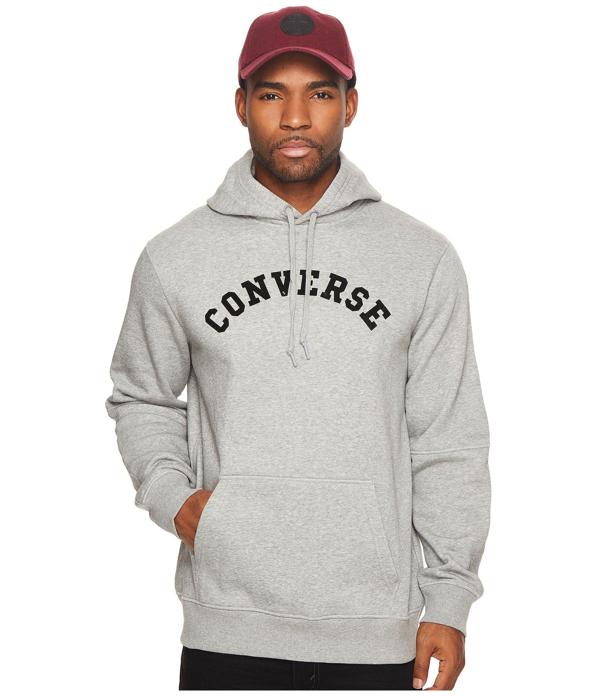 Lyst - Converse Quilted Panel Pullover Hoodie in Gray for Men ... : quilted panel - Adamdwight.com