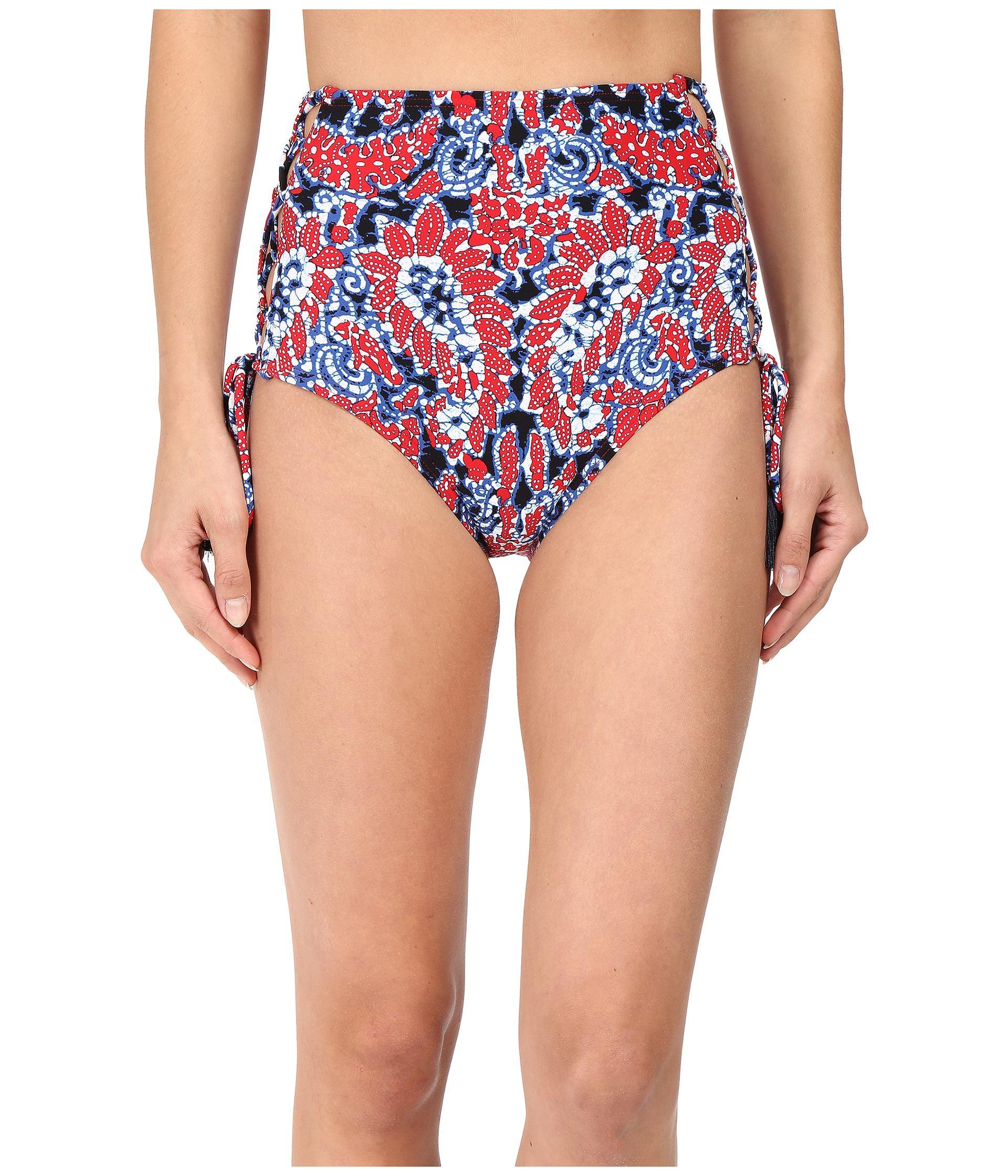 1ec5014e516ae Lyst - MICHAEL Michael Kors Angelina Lace-up High Waist Bikini Bottom