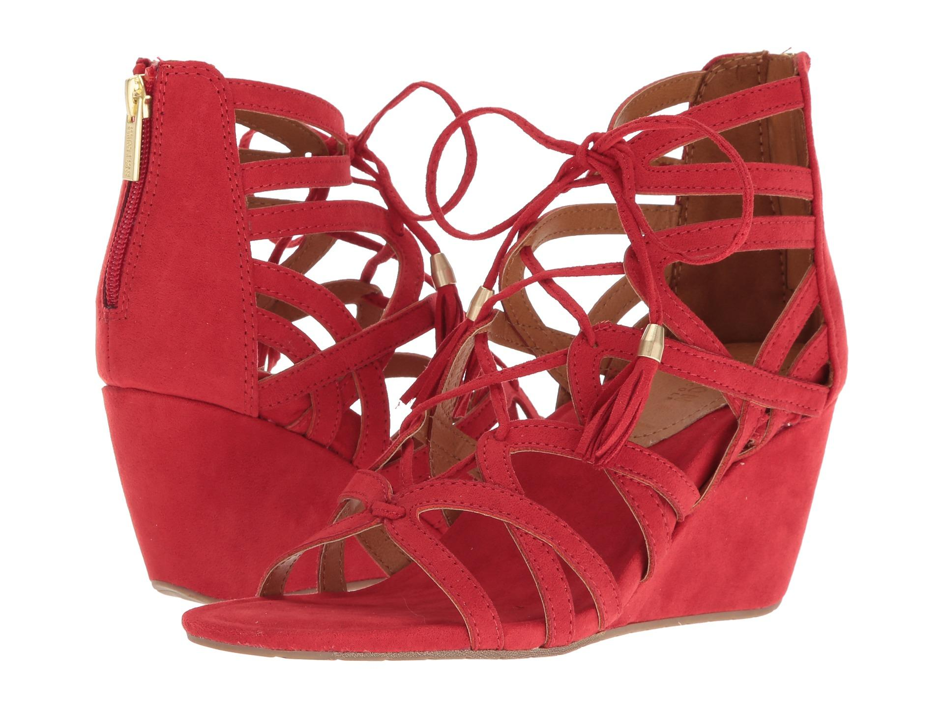 Red Cake Pop Wedge Sandal