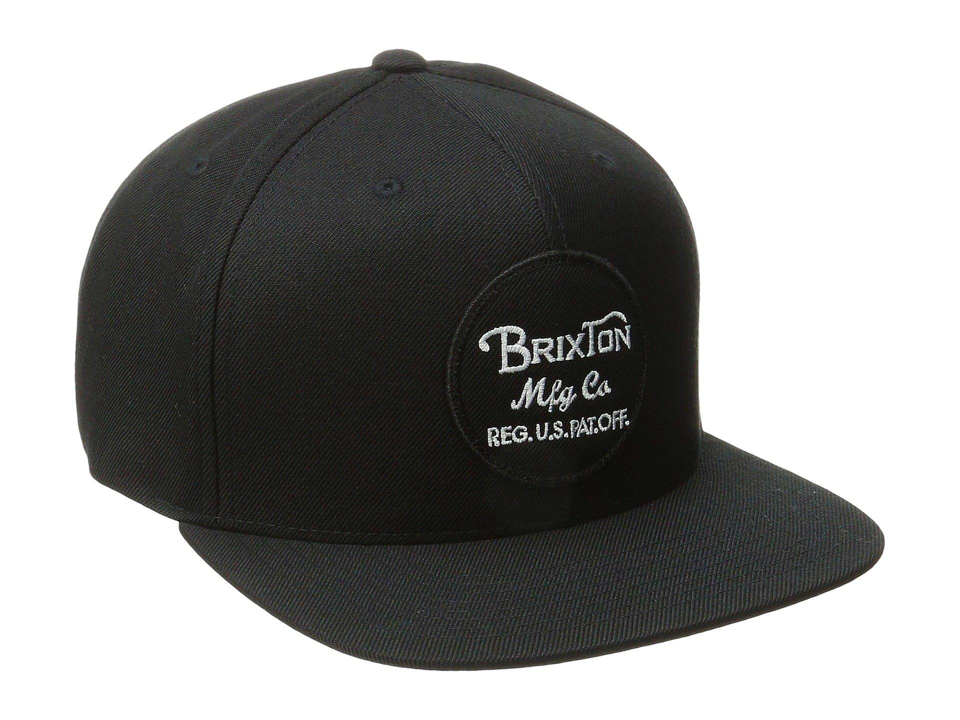 c6b48c58a4666 Lyst - Brixton Wheeler Snapback (burgundy black) Caps in Black for Men