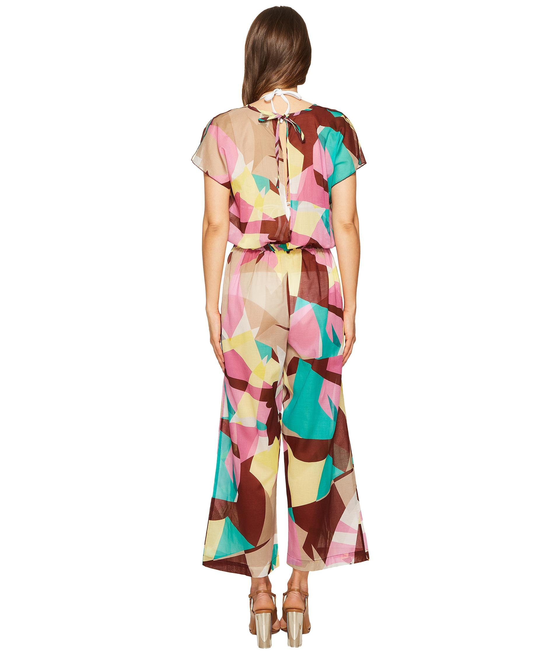 2690b6851a6 Lyst - M Missoni Abstract Print Cotton Voile Jumpsuit