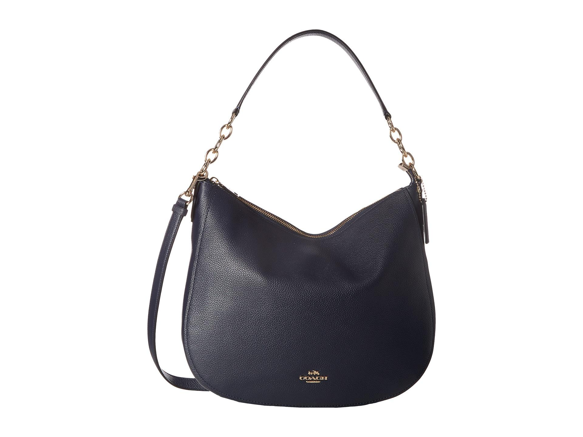 f7993f3ab9 ... low price bag in blue lyst coach polished pebbled leather chelsea 32  hobo in blue lyst