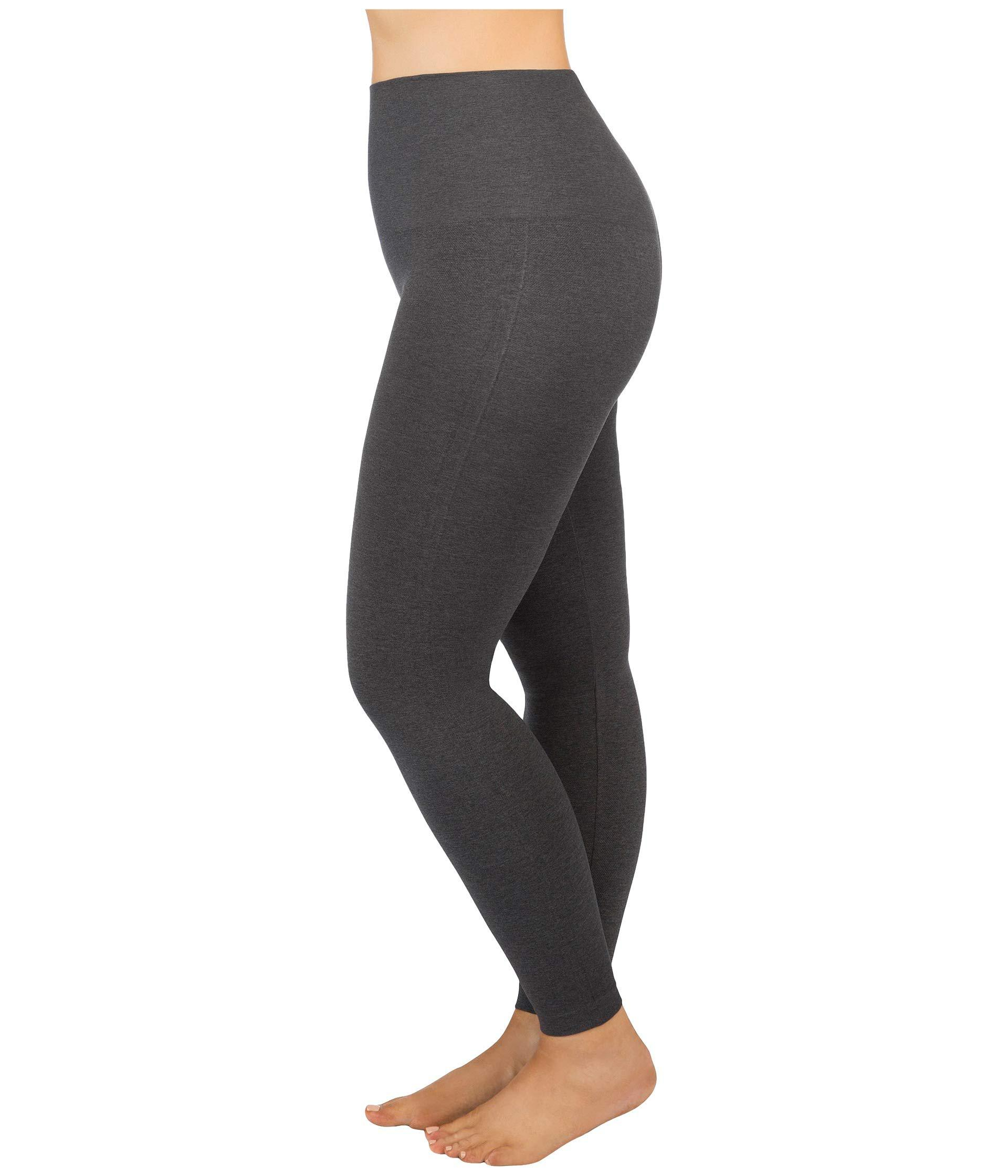 5233eee9850 Spanx Plus Size Look At Me Now Seamless Leggings (very Black) Women s  Clothing in Gray - Lyst
