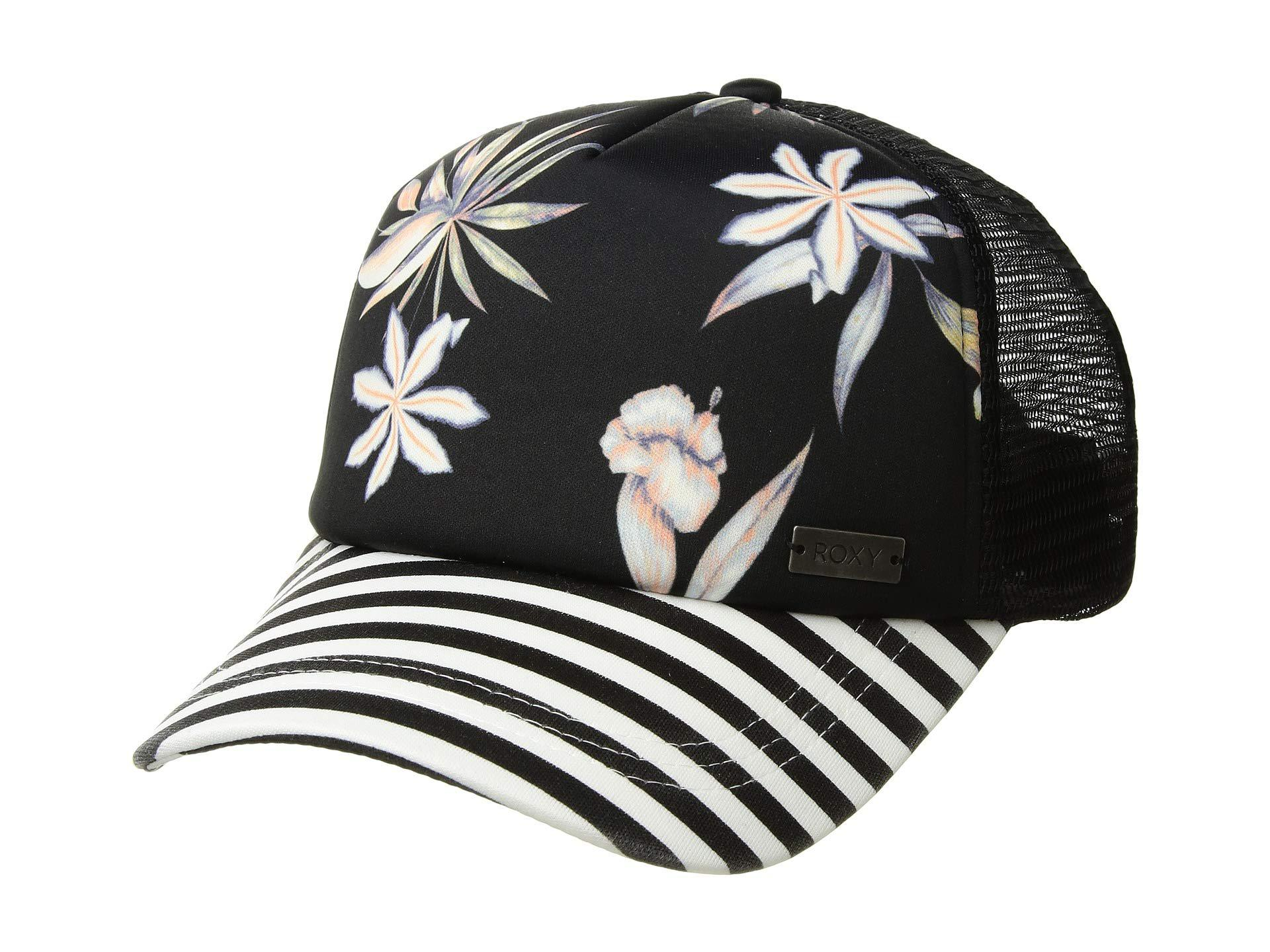 e9600b9e Roxy. Women's Black Water Come Down Trucker Cap (marshmallow Tropical ...