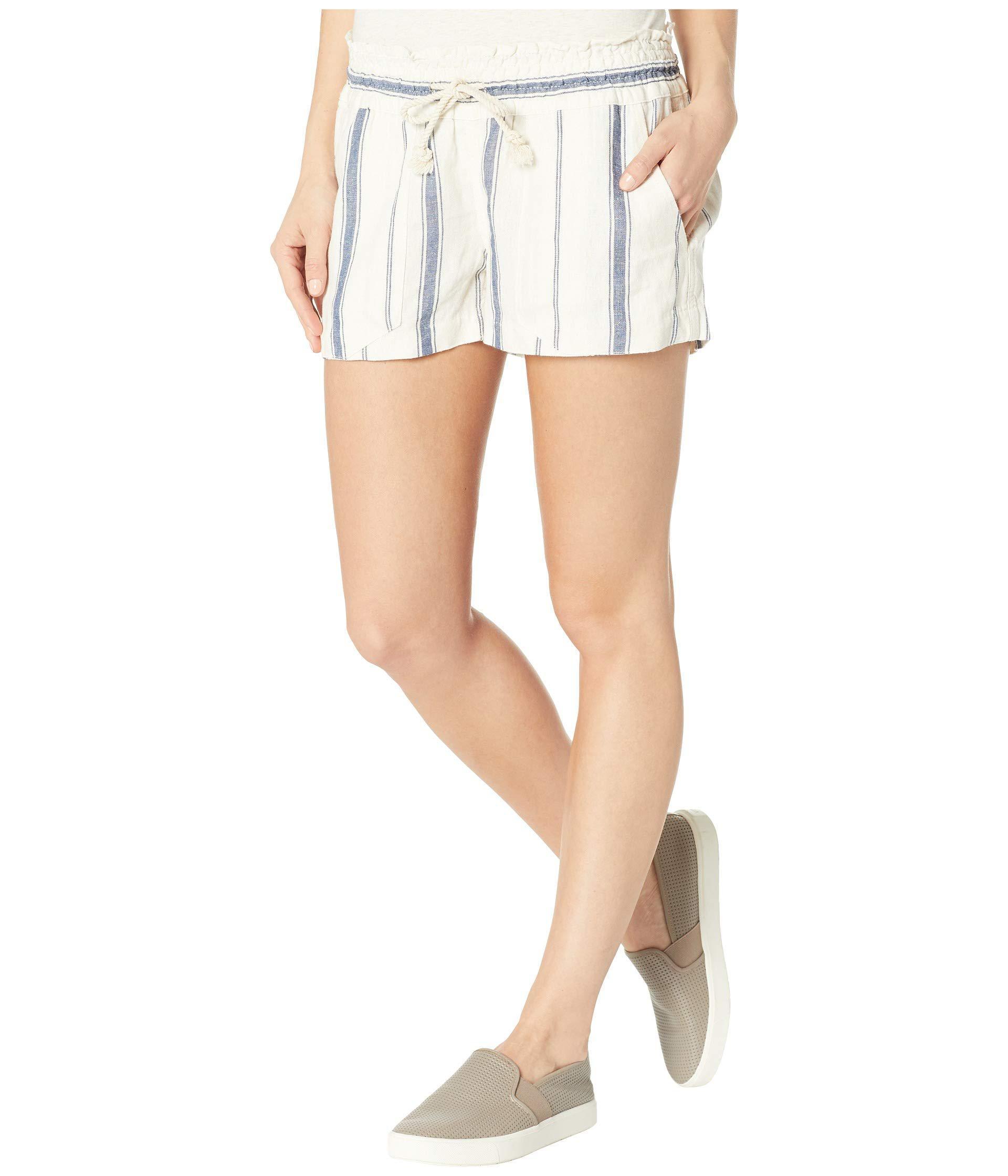 cbdac9a27c Lyst - Roxy Oceanside Shorts Yarn-dye (oxblood Red/tea Party Stripe) Women's  Shorts