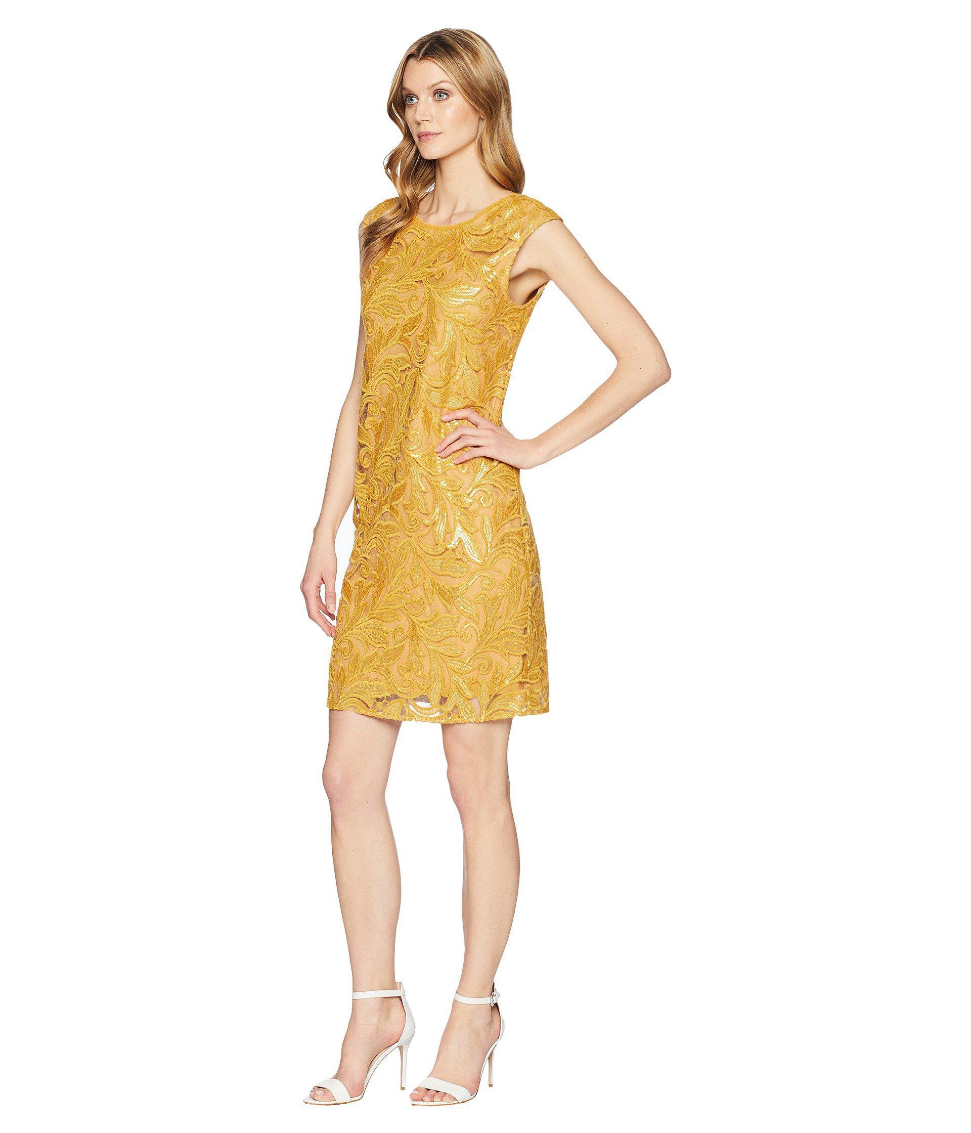 9d2cedef96 Lyst - Nic+Zoe Sequin Lace Shift Dress (gold) Women s Dress in Metallic