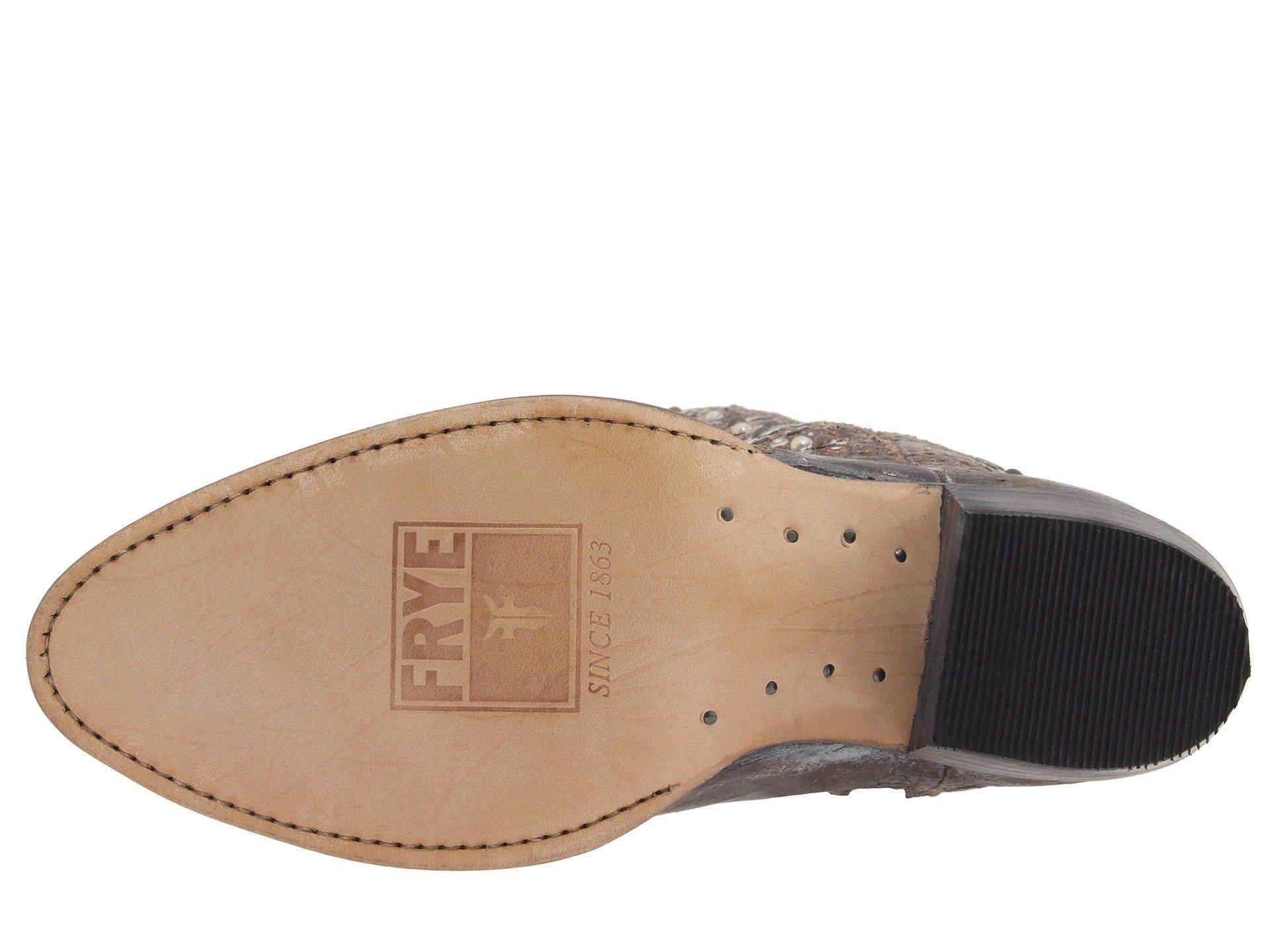 ab2734919a93 Frye - Gray Deborah Studded Tall (grey) Cowboy Boots - Lyst. View fullscreen