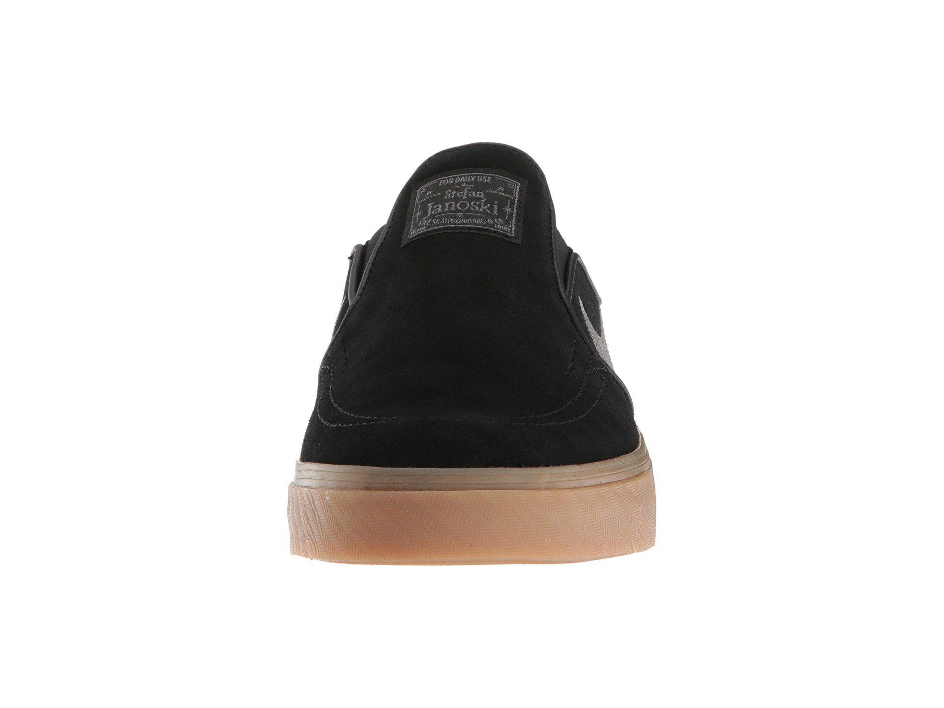 43706590698a8e Lyst - Nike Zoom Stefan Janoski Slip-on - Suede (black gunsmoke gum ...