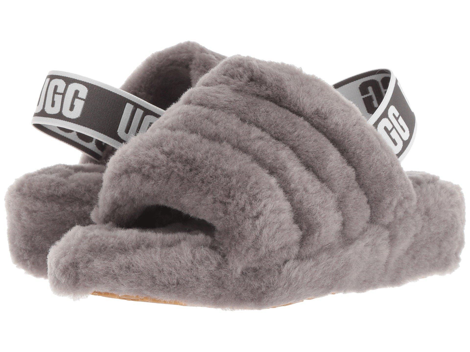 7bdac7dc16bc0 Lyst - UGG Fluff Yeah Fur Slides in Gray - Save 37%