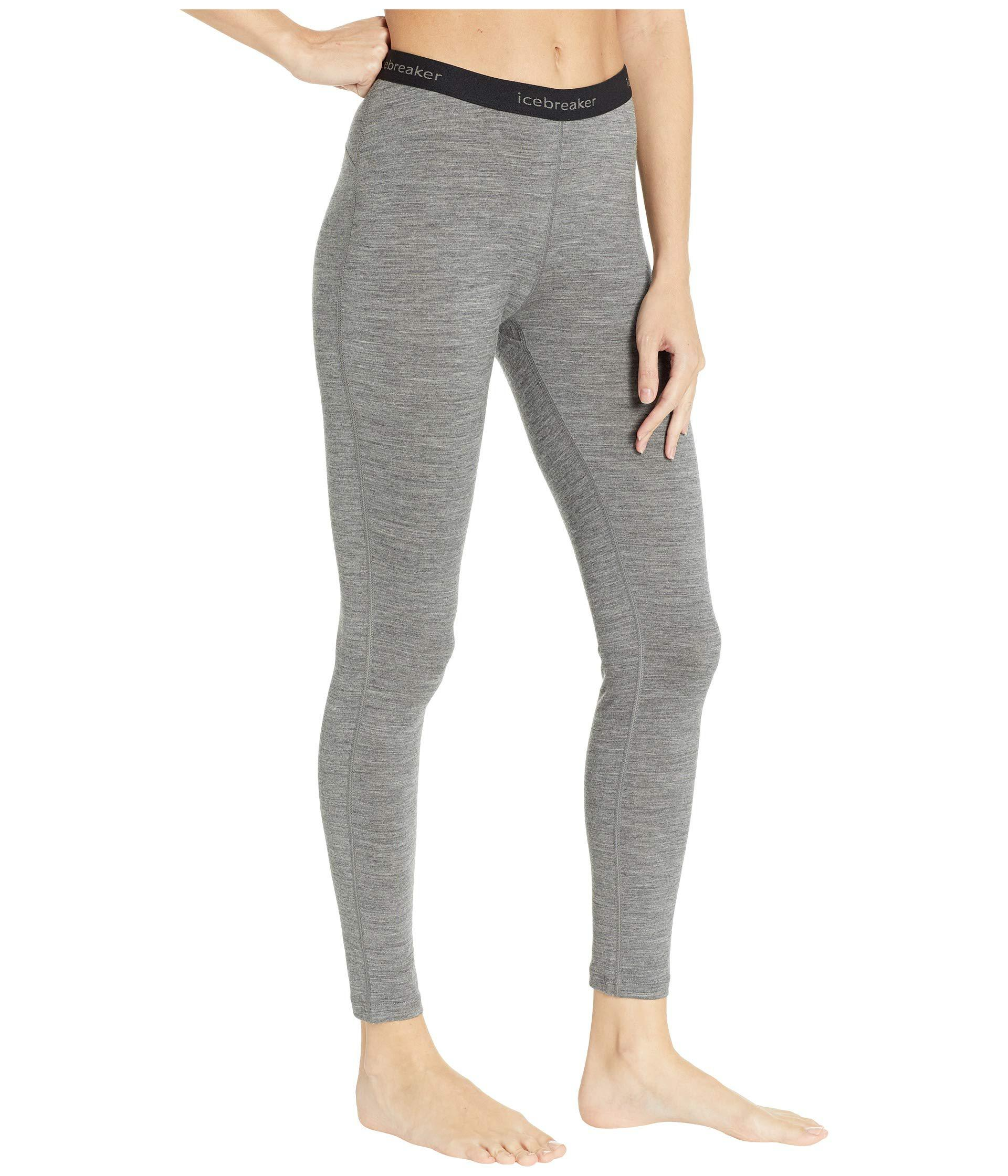 1ad30de058d Icebreaker 200 Oasis Merino Base Layer Leggings (gritstone Heather ...