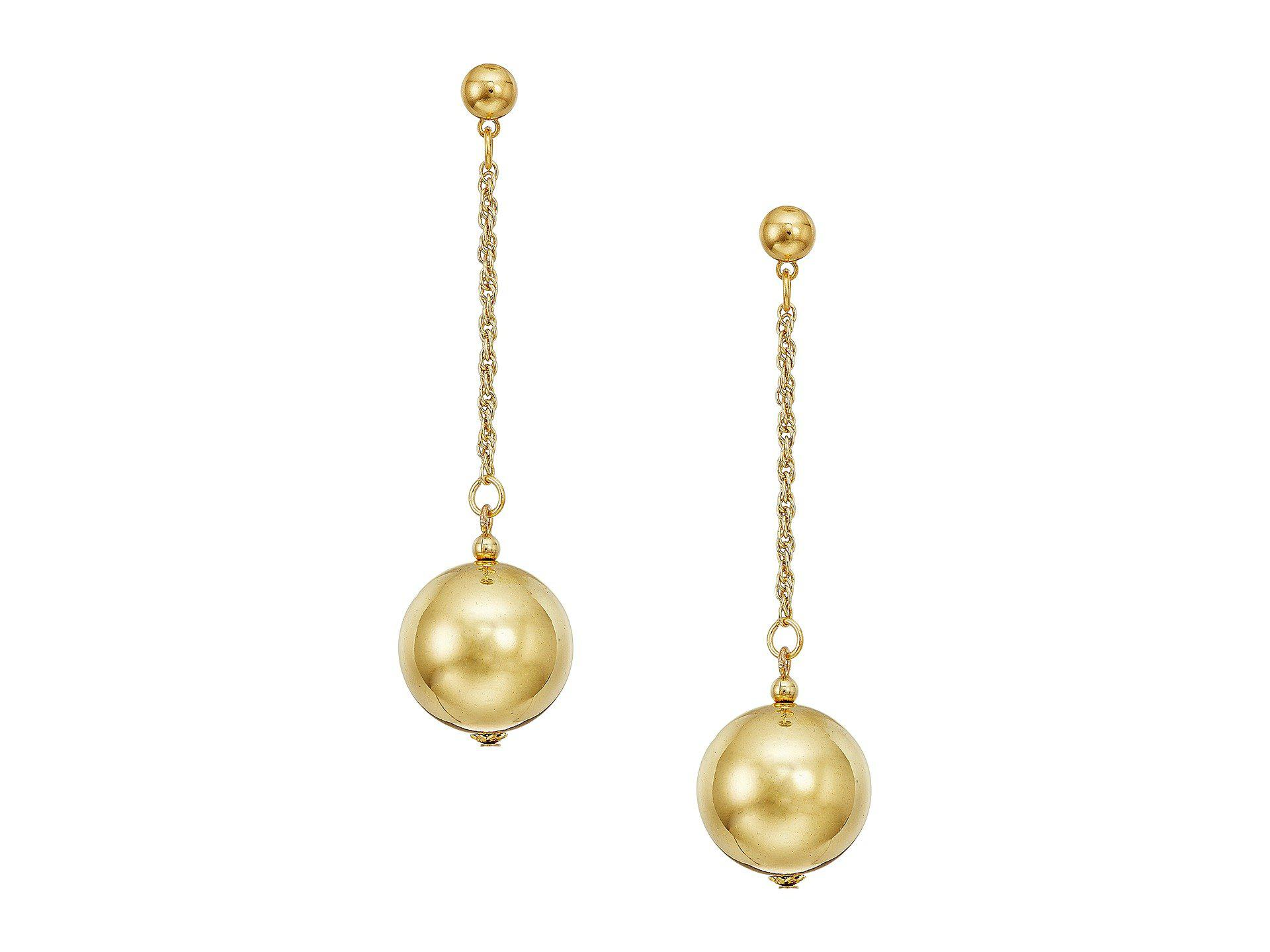 Kenneth Jay Lane Gold Flower Earrings Polished gold