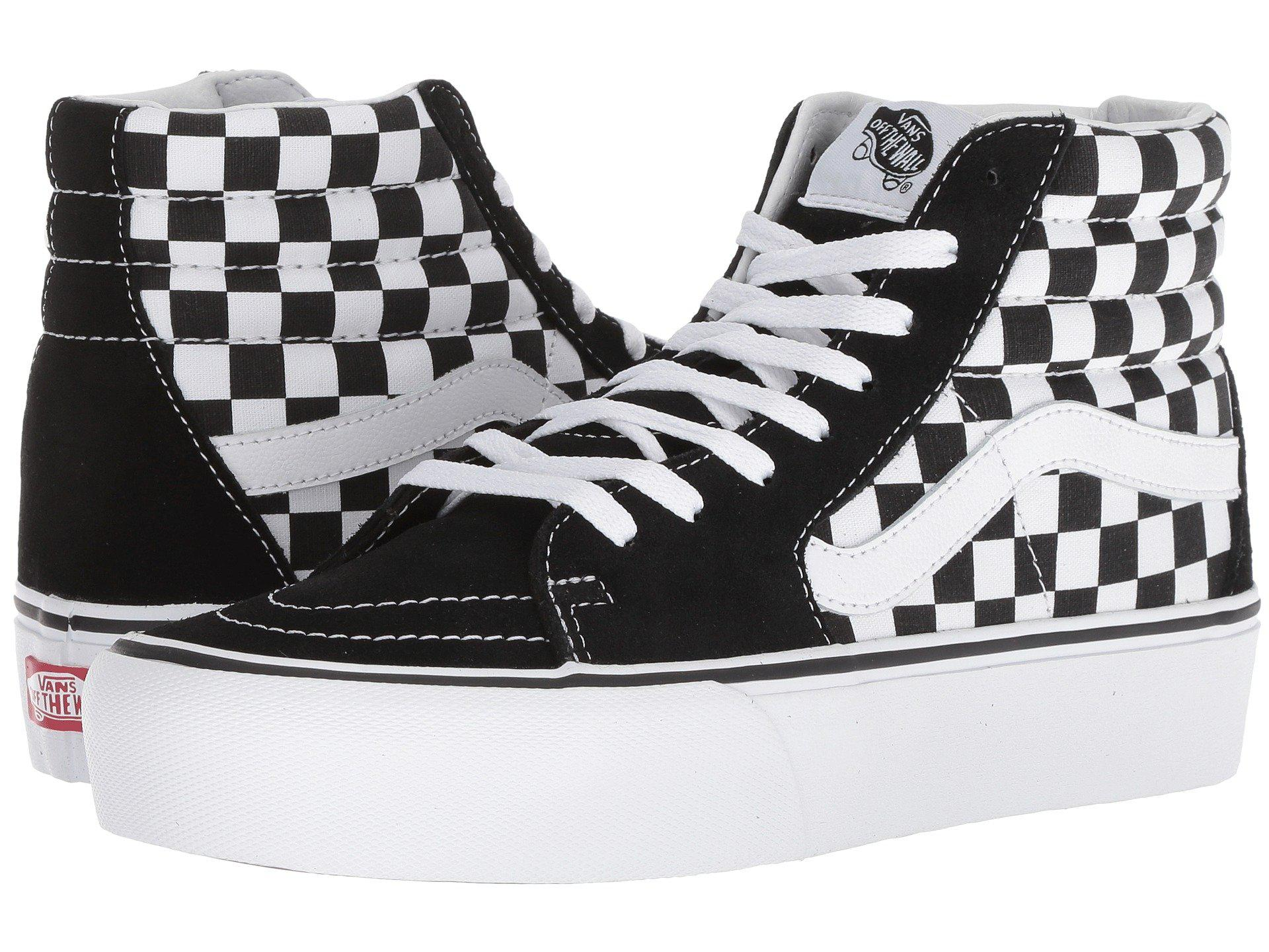 577510a97667 Vans - Multicolor Sk8-hi Platform 2.0 (checkerboard true White) Skate  Shoes. View fullscreen