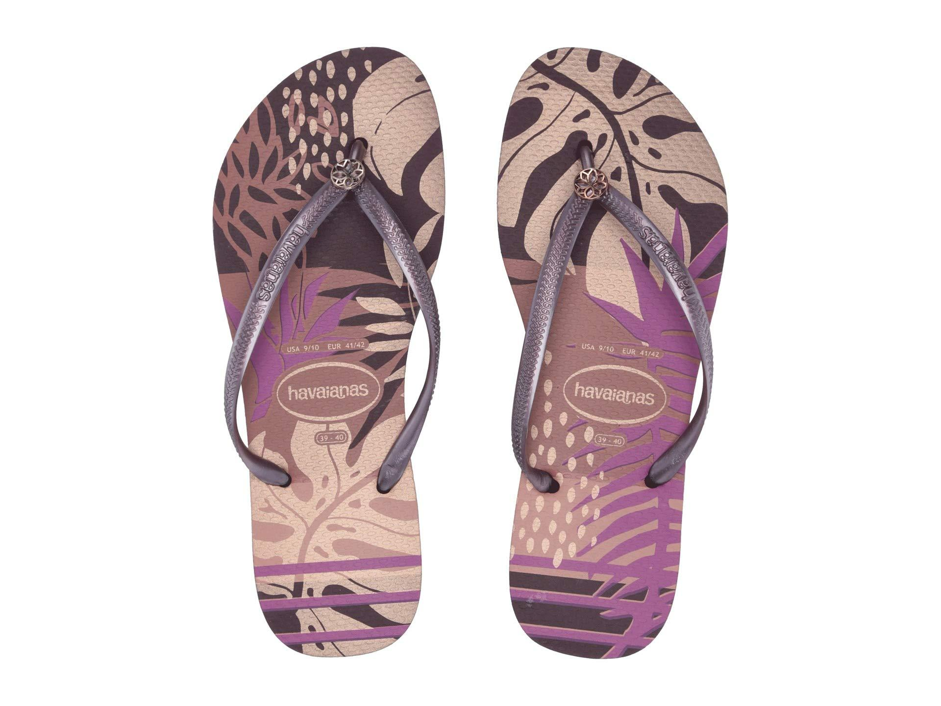 9563a1bd670e Havaianas - Purple Slim Foliage Sandal (black) Women s Sandals - Lyst. View  fullscreen